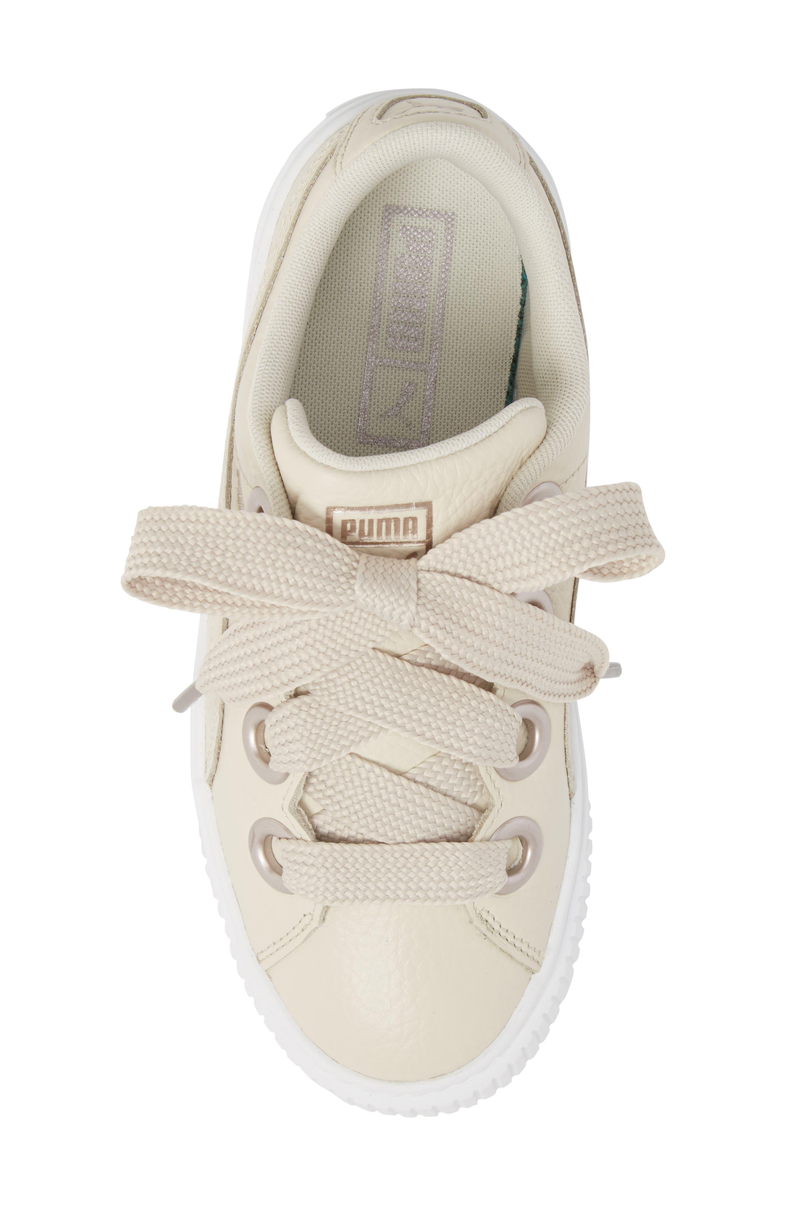 Platform Kiss Sneaker,                             Alternate thumbnail 5, color,                             Ivory