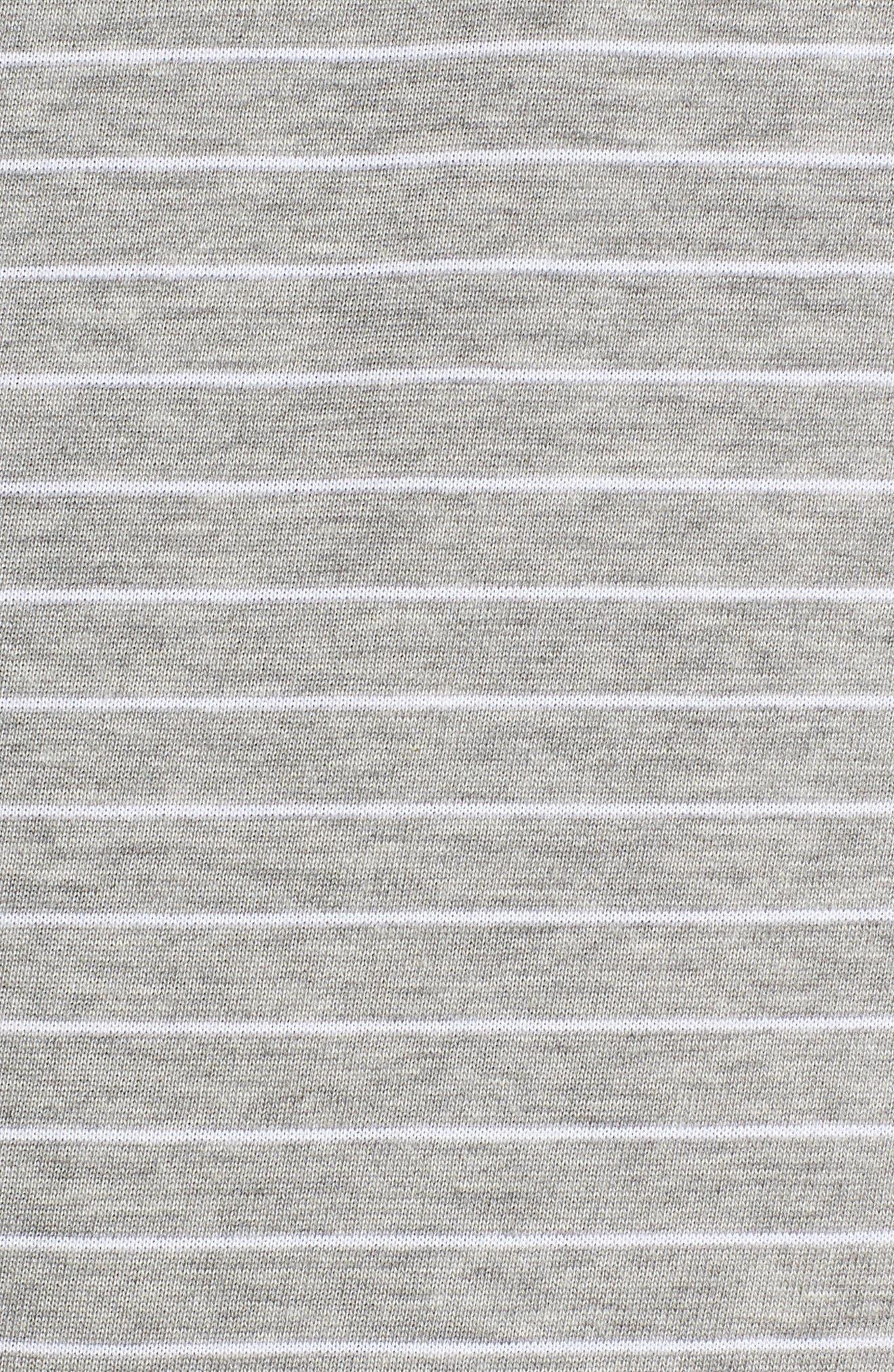 Dry Doheny Stripe T-Shirt,                             Alternate thumbnail 5, color,                             Dark Heather Grey