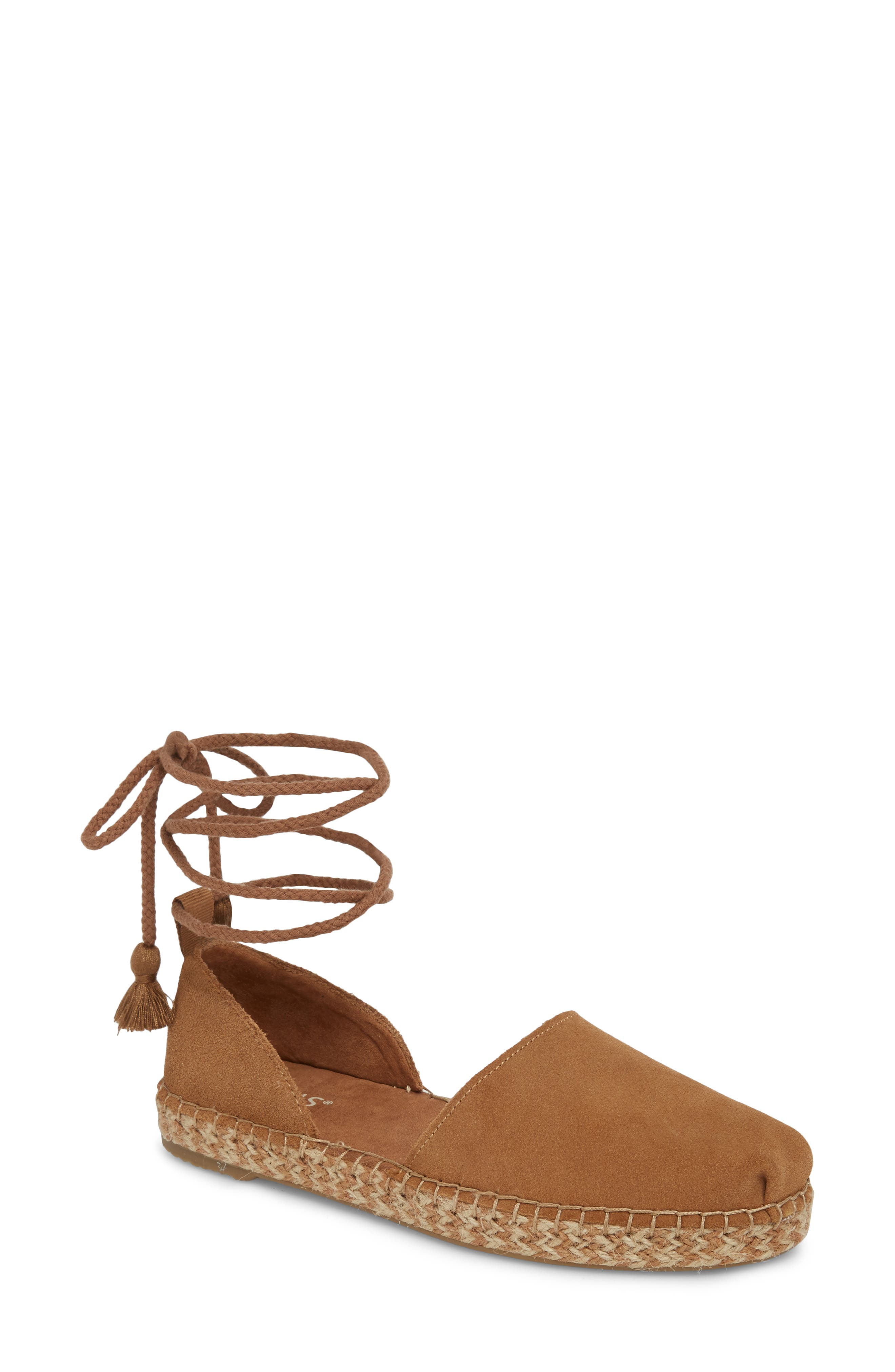 Katalina Espadrille,                             Main thumbnail 1, color,                             Toffee Suede