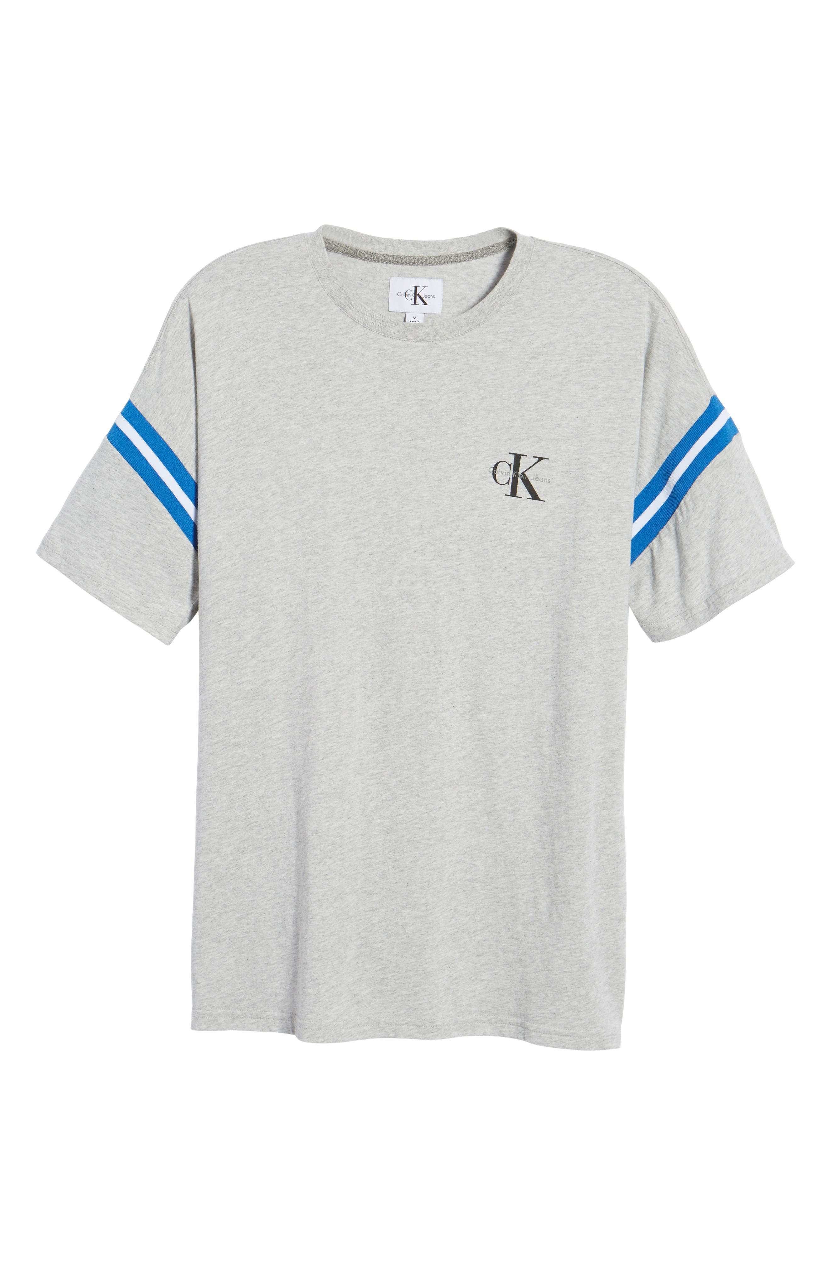 Tipped T-Shirt,                             Alternate thumbnail 6, color,                             Smoke Heather