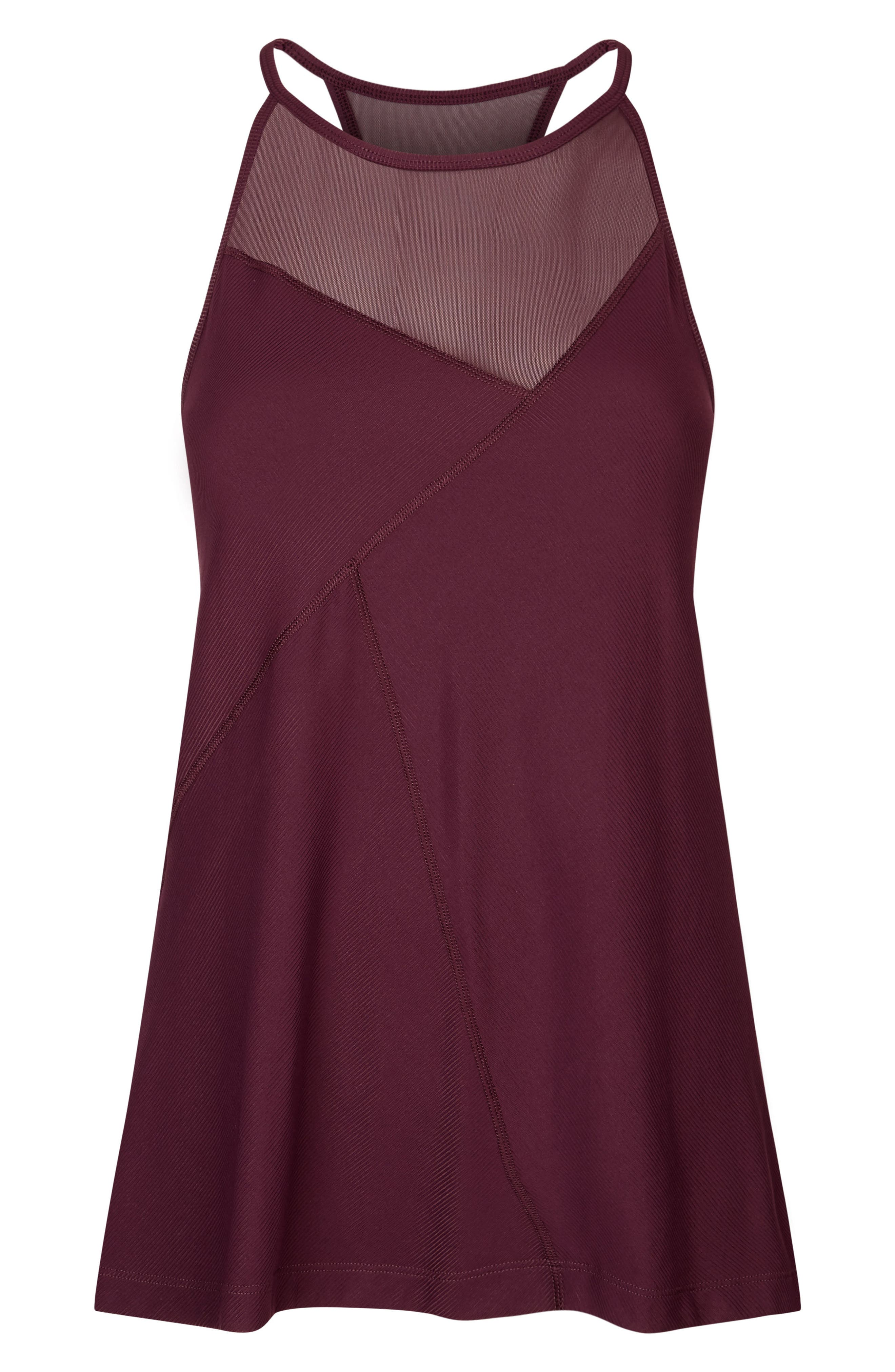 Chakra Ribbed Tank,                             Alternate thumbnail 6, color,                             Oxblood