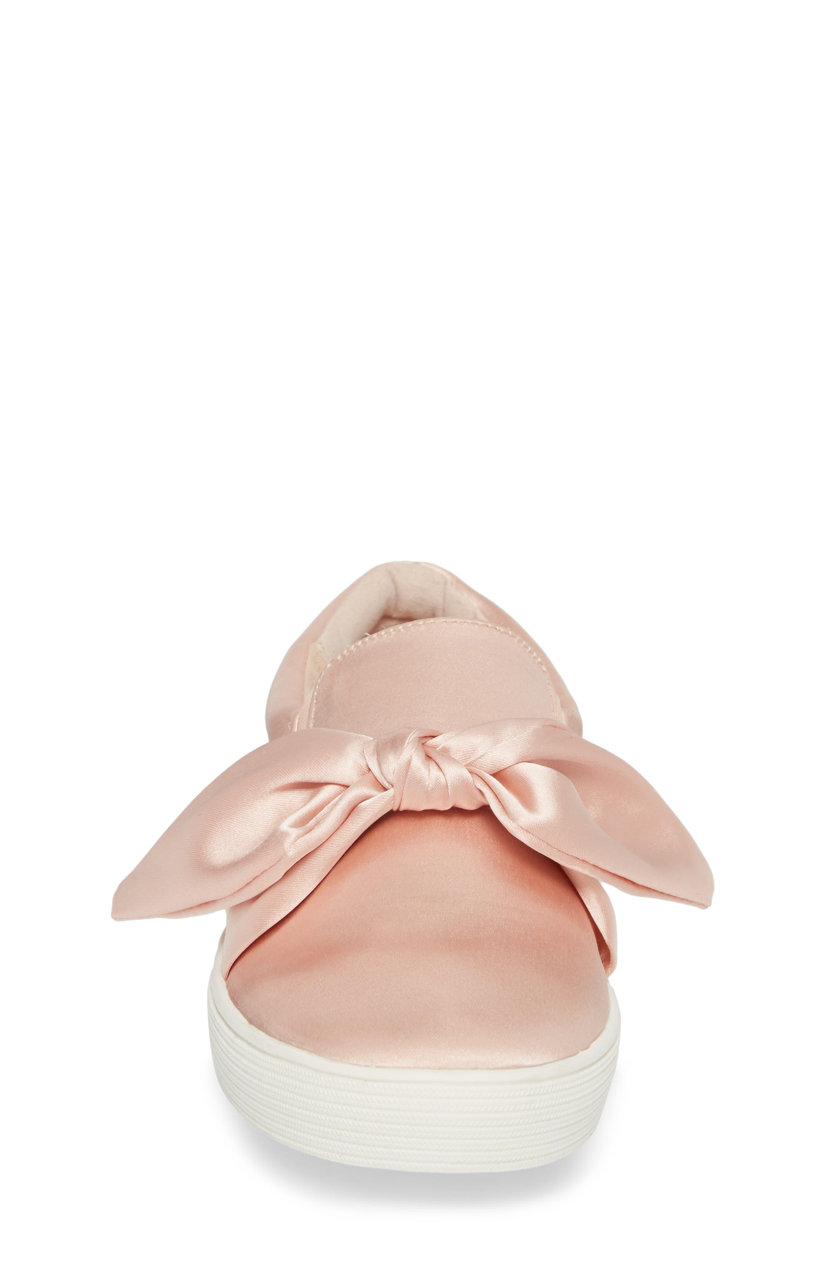 Bella Eden Slip-On Sneaker,                             Alternate thumbnail 4, color,                             Blush Satin