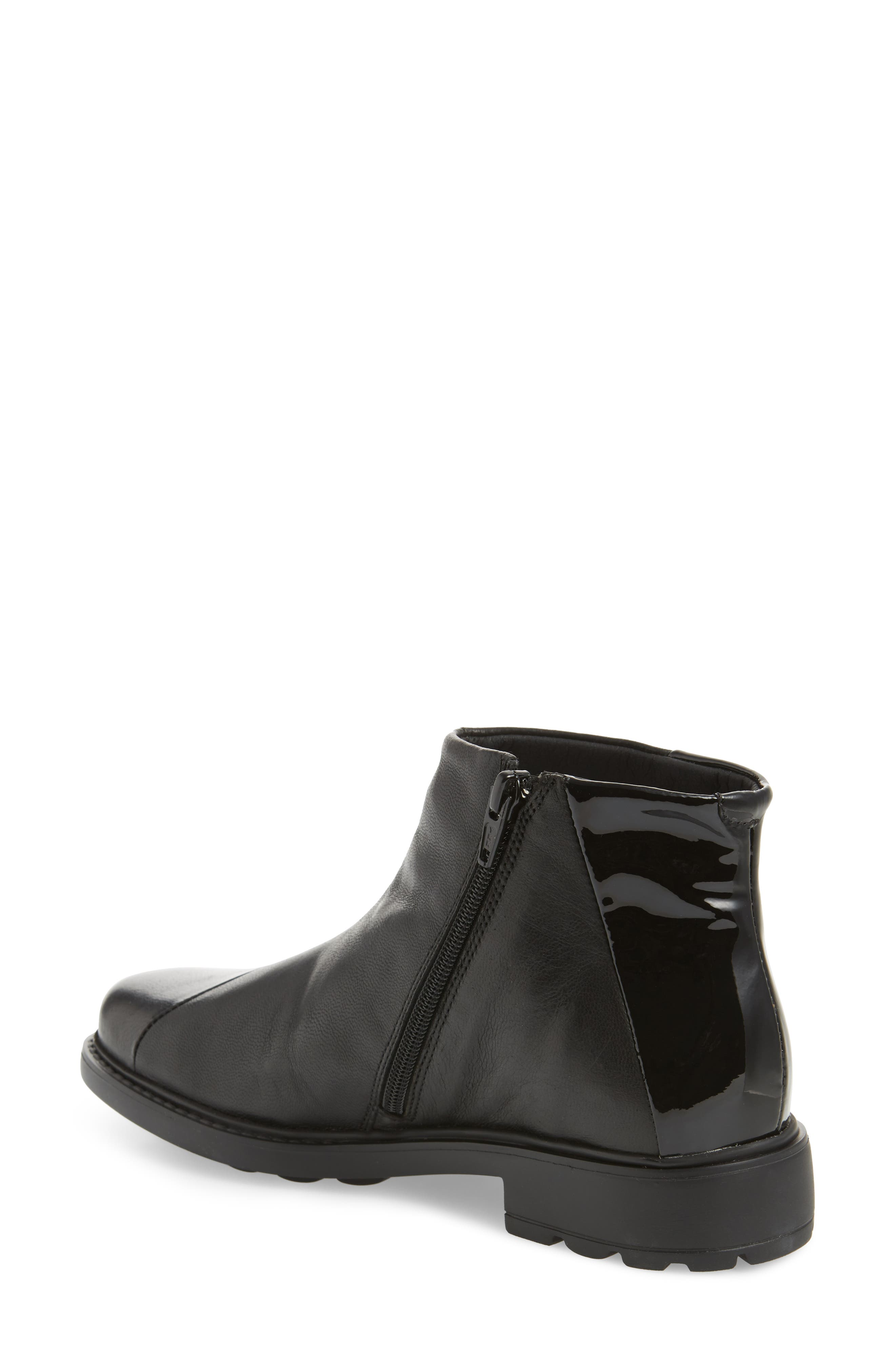Penny Bootie,                             Alternate thumbnail 2, color,                             Black Leather