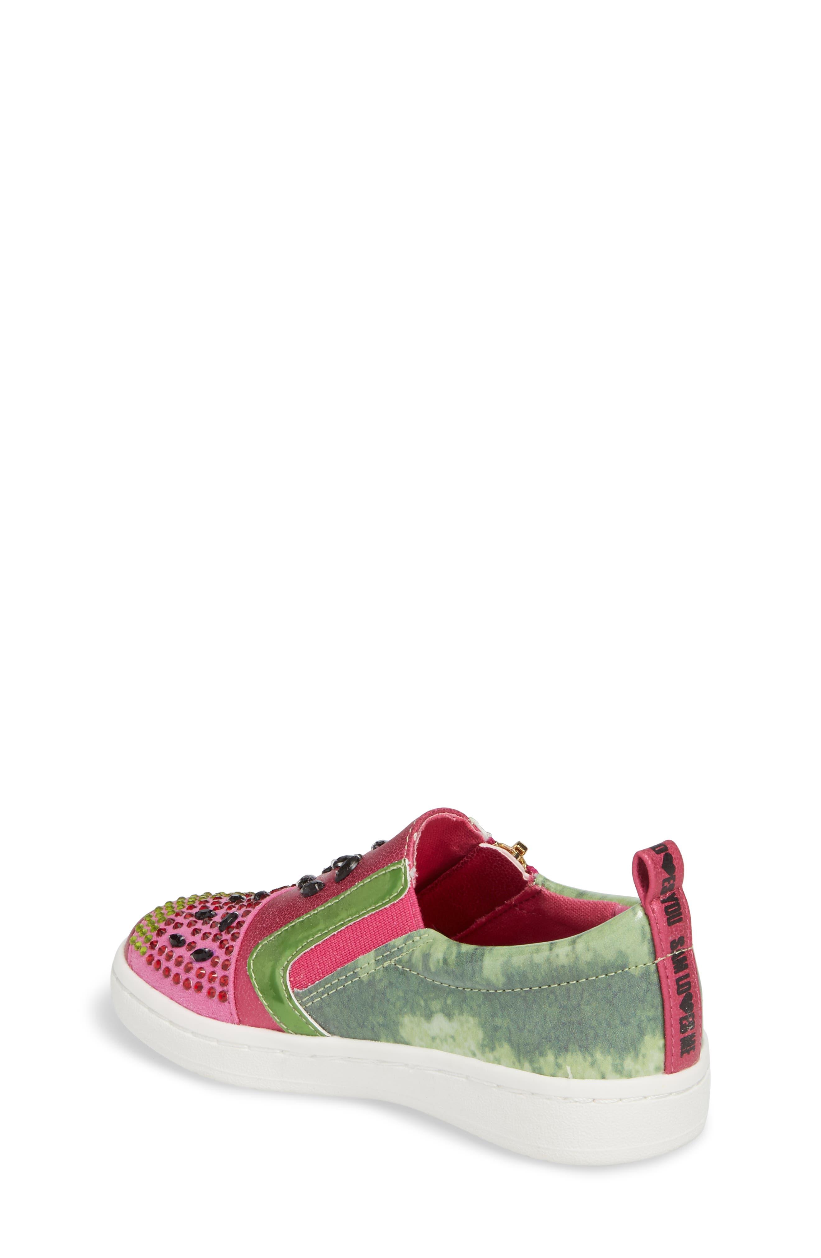 Blane Watermelon Sneaker,                             Alternate thumbnail 2, color,                             Fuchsia Patent Leather