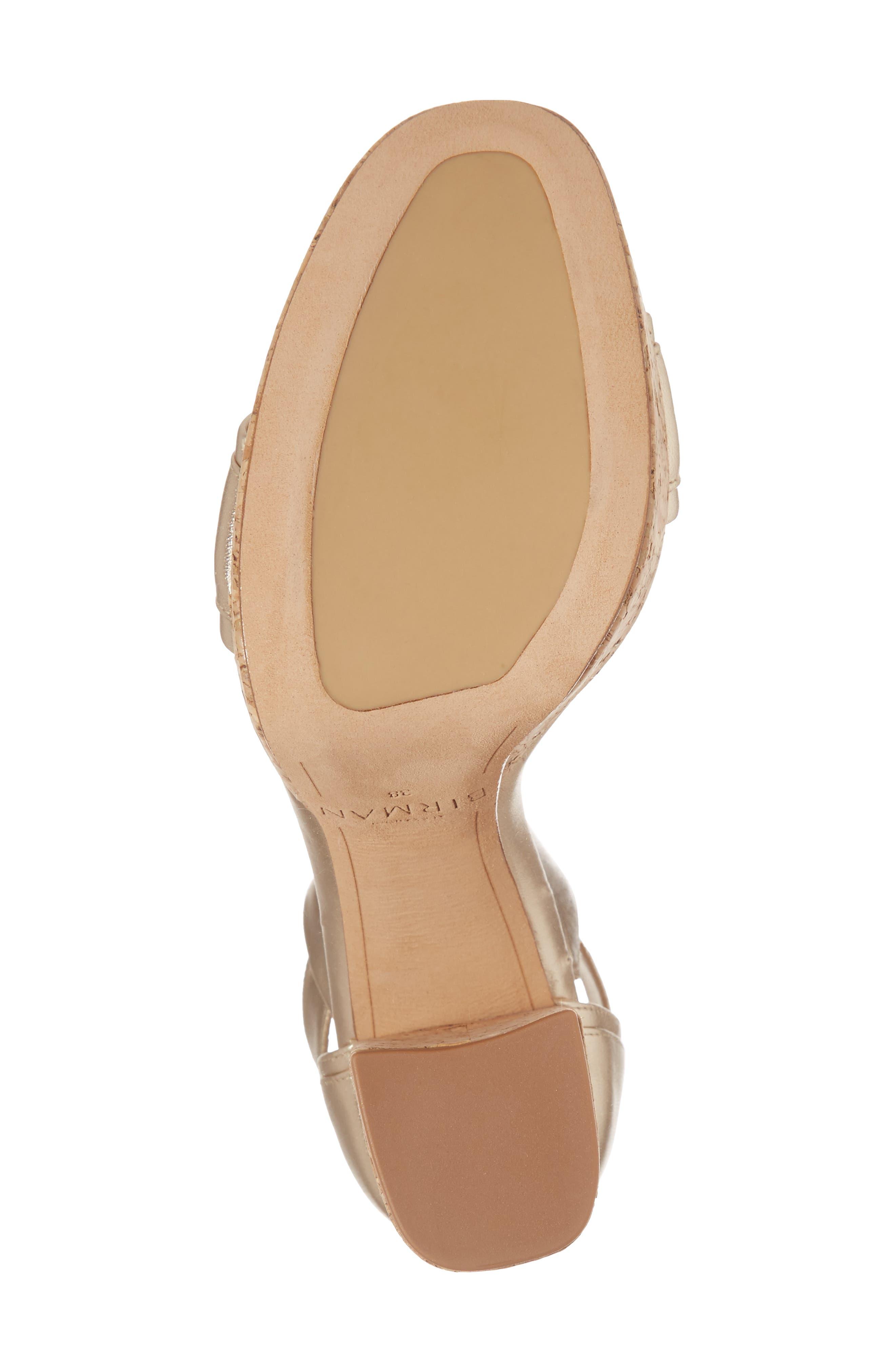 Celine Ankle Tie Platform Sandal,                             Alternate thumbnail 6, color,                             Gold