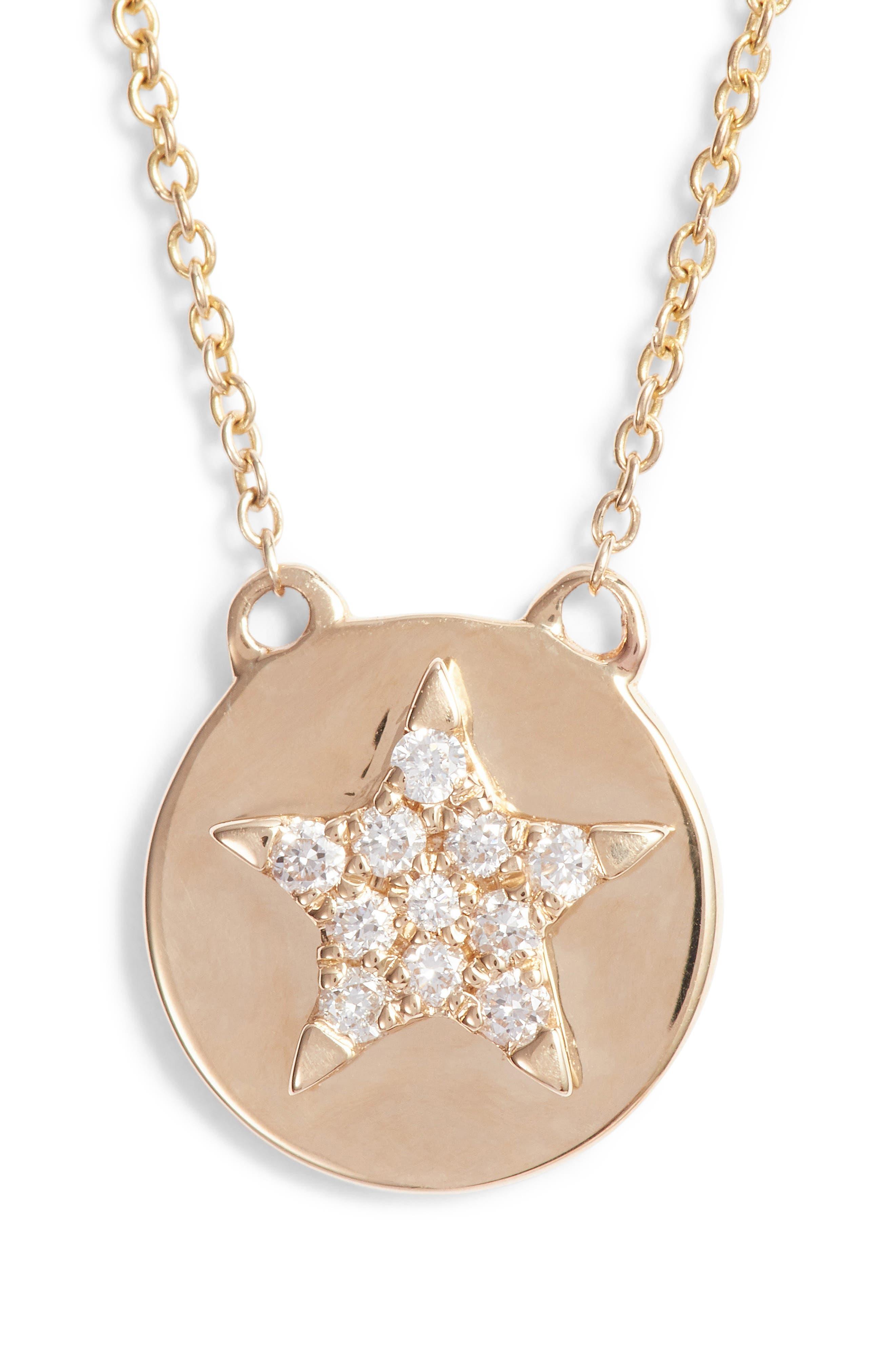 Dana Rebecca Designs Julianne Himiko Star Disc Pendant Necklace