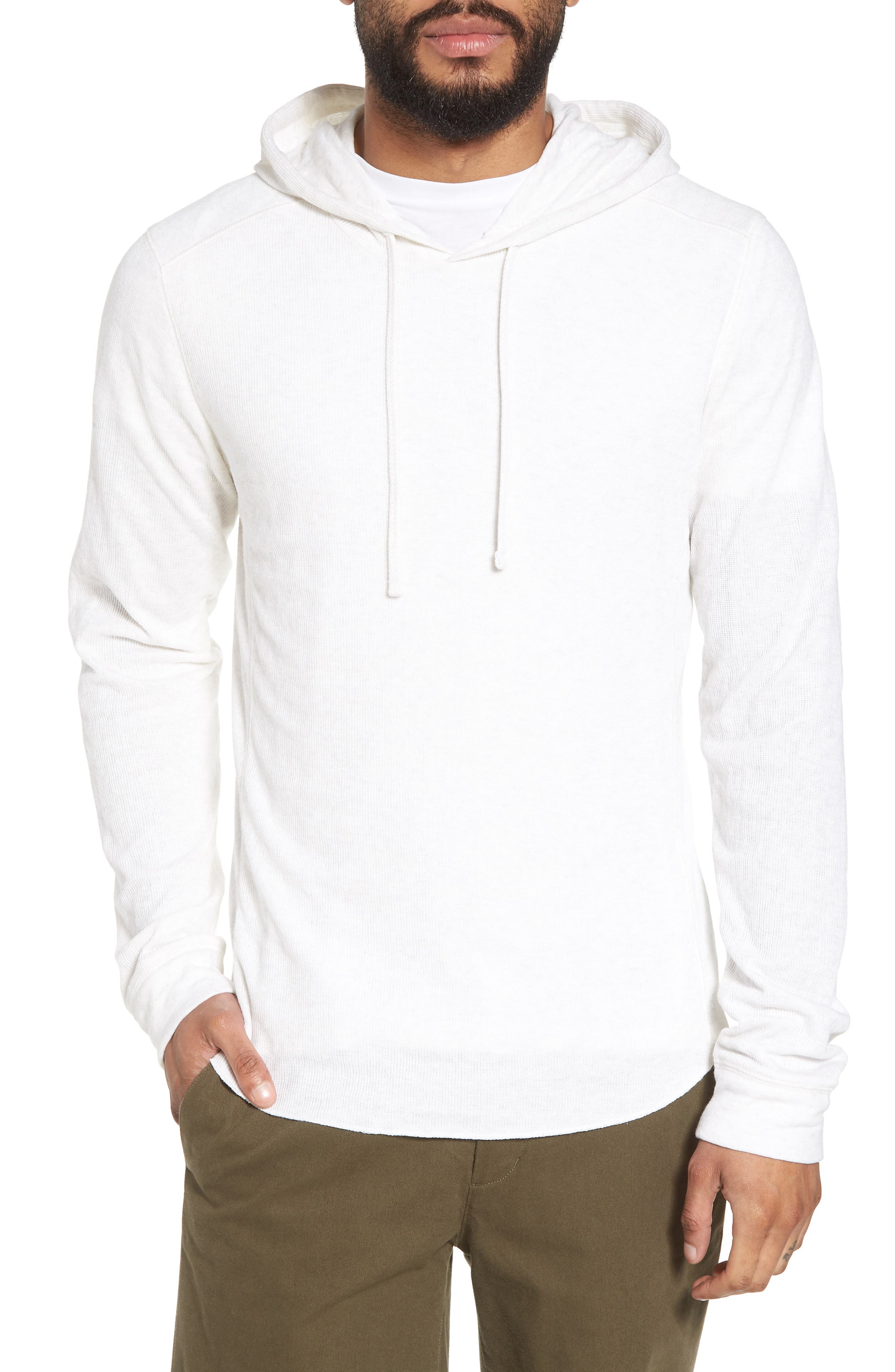 Double Knit Hoodie,                             Main thumbnail 1, color,                             H Optic White