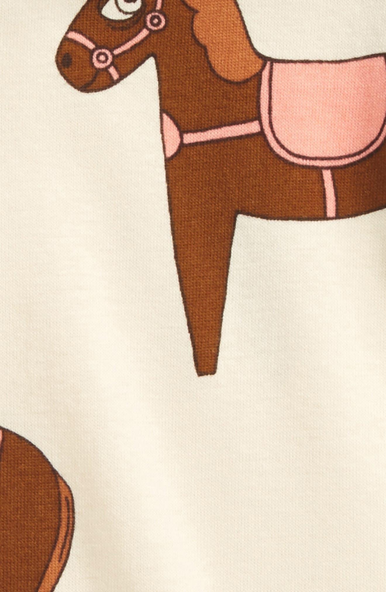 Horse Organic Cotton Bodysuit,                             Alternate thumbnail 2, color,                             Pink