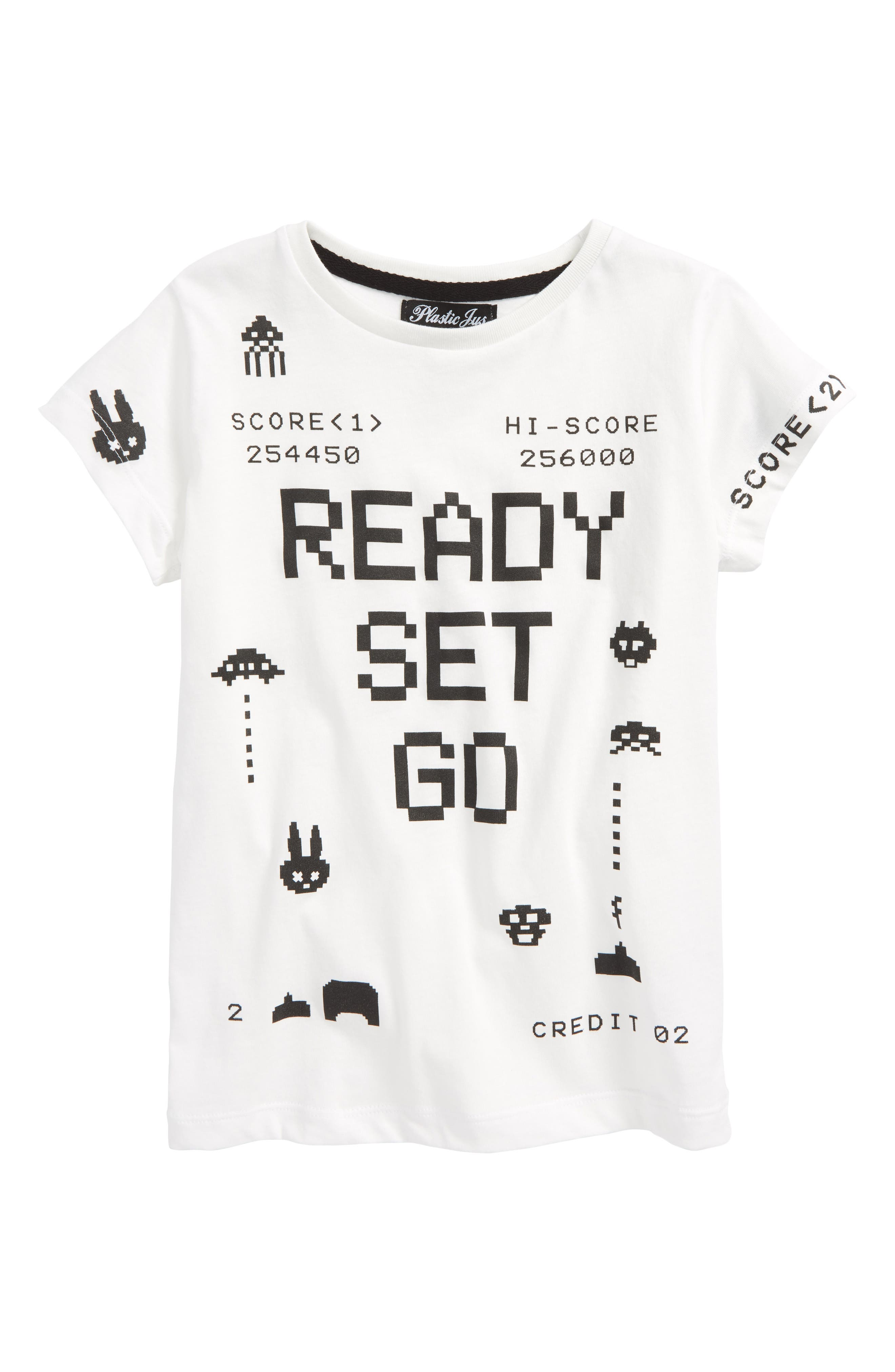 Ready Set Go Graphic T-Shirt,                         Main,                         color, White