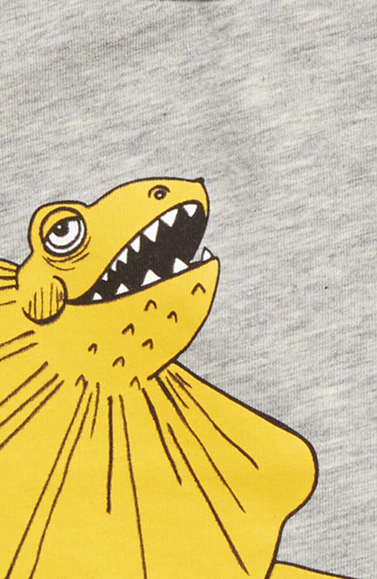 Draco Organic Cotton Blend T-Shirt,                             Alternate thumbnail 2, color,                             Grey Melange
