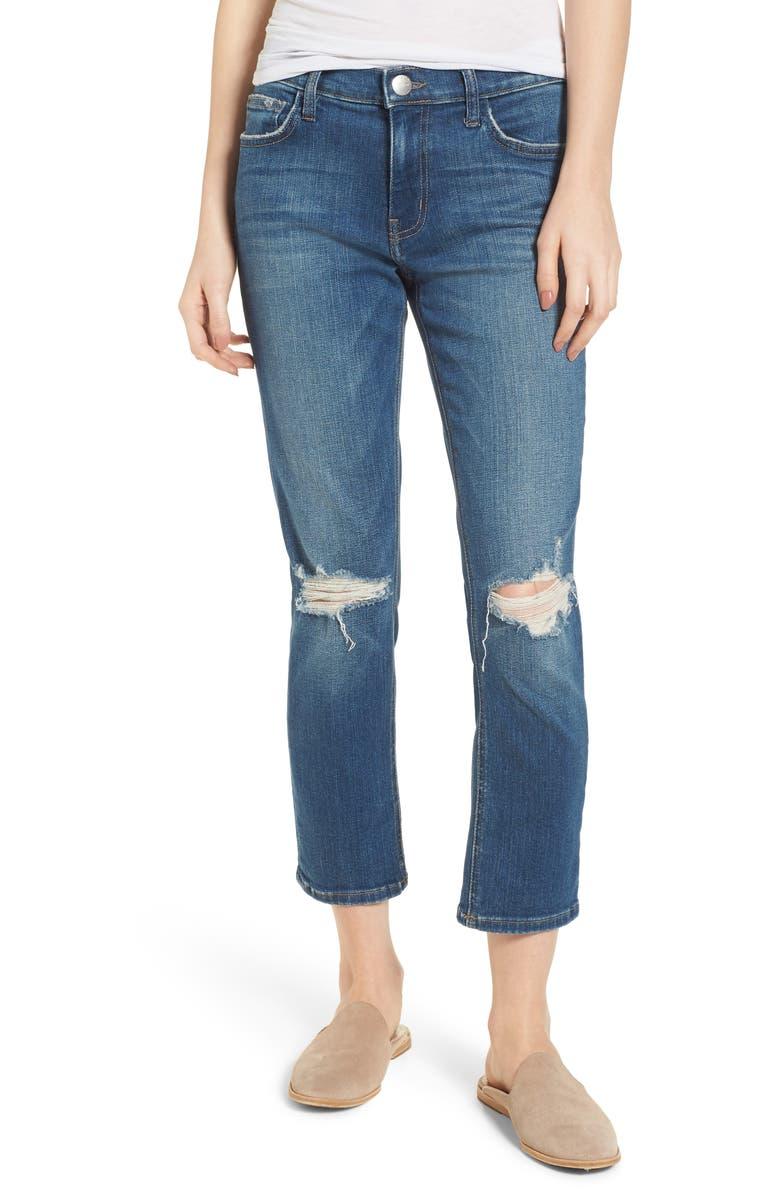 The High Waist Crop Straight Leg Jeans