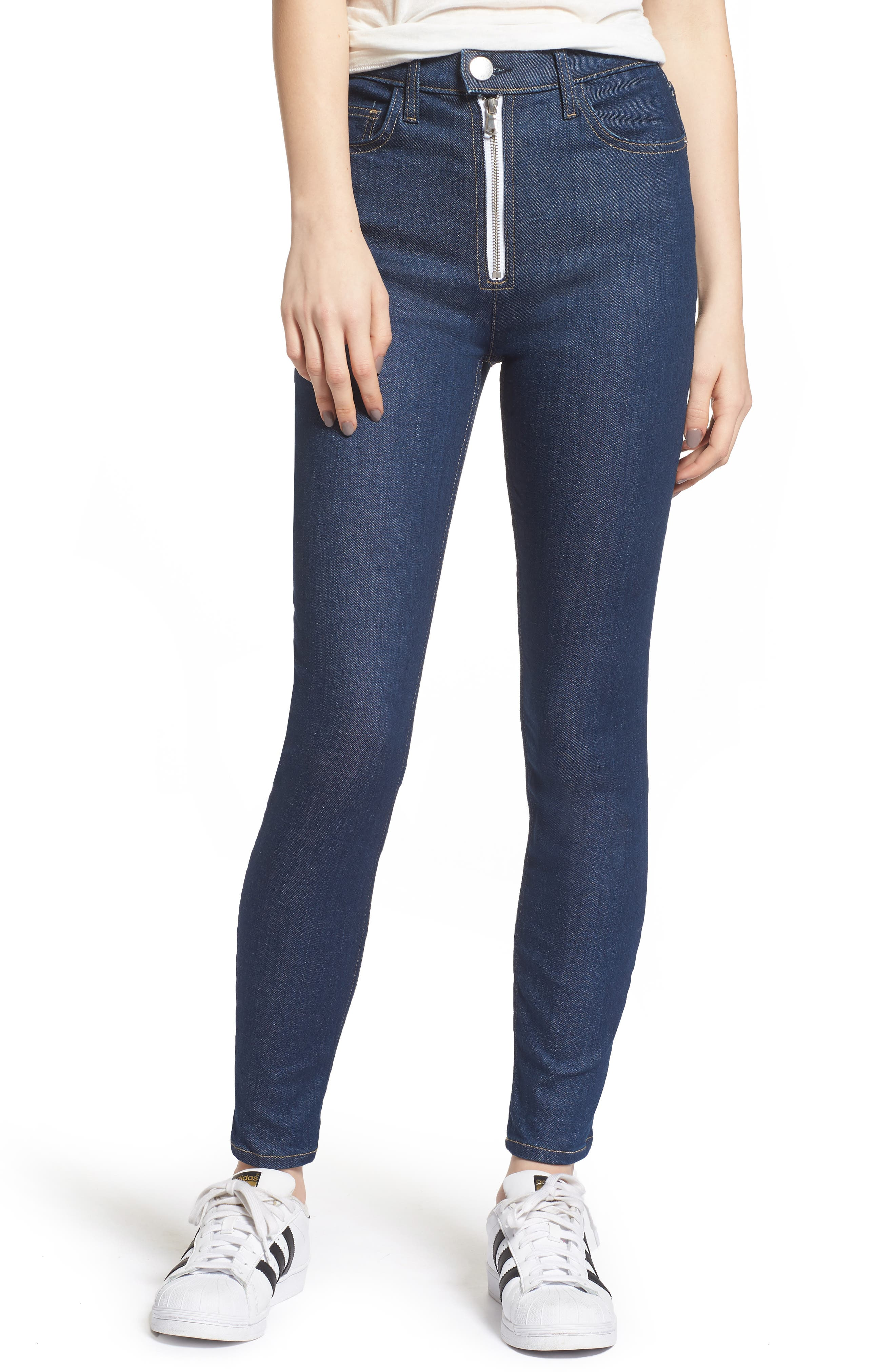 Current/Elliott The Ultra High Waist Skinny Jeans (Rinse)