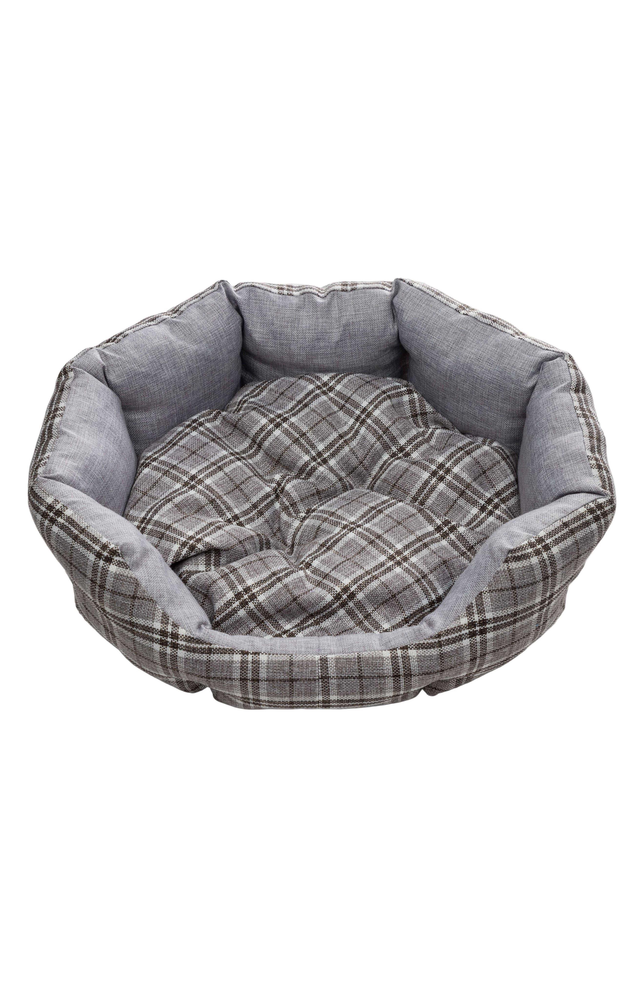 Harlee Round Pet Bed,                         Main,                         color, Grey