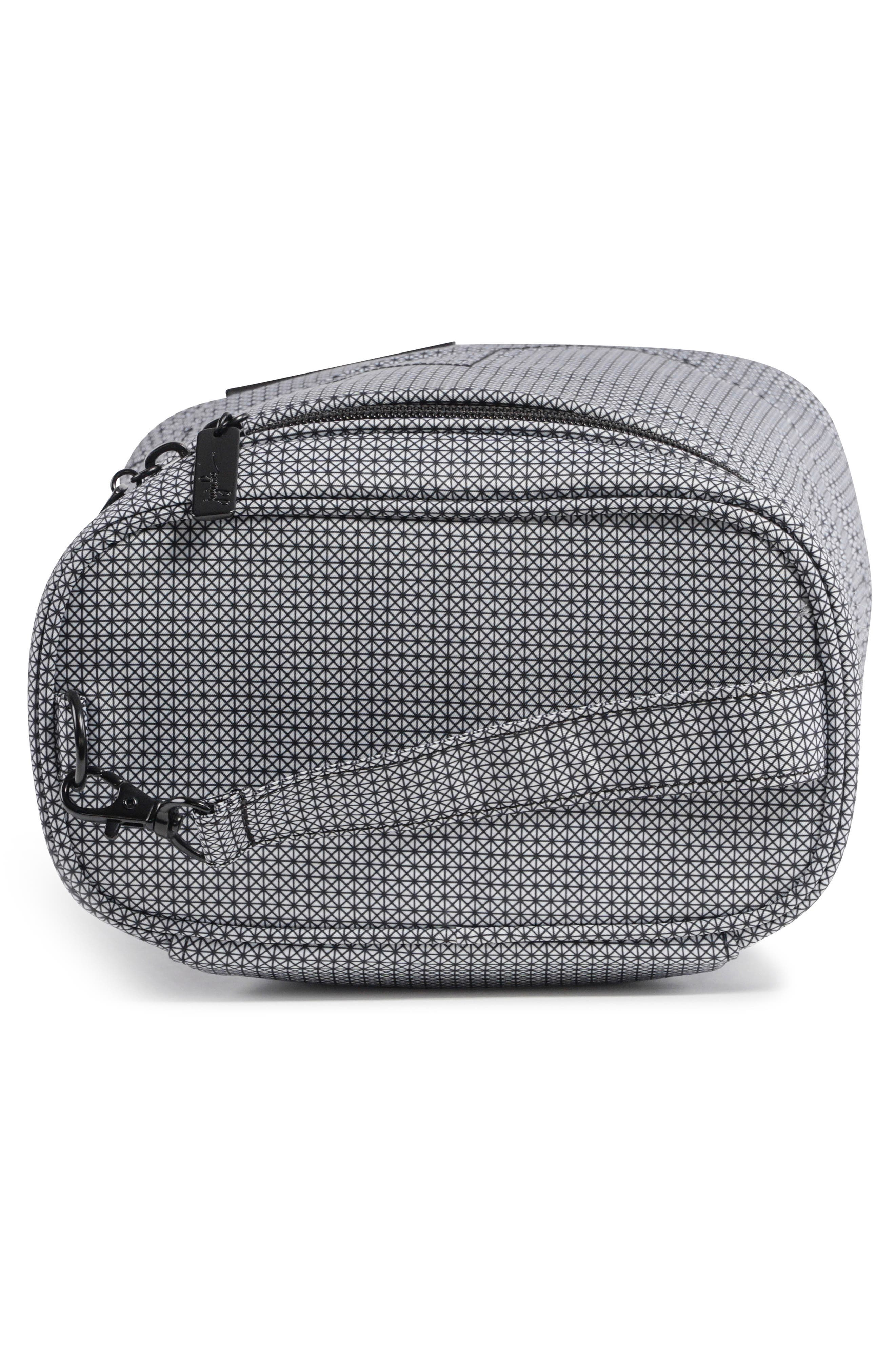 'Fuel Cell - Onyx Collection' Lunch Bag,                             Alternate thumbnail 4, color,                             Black Matrix