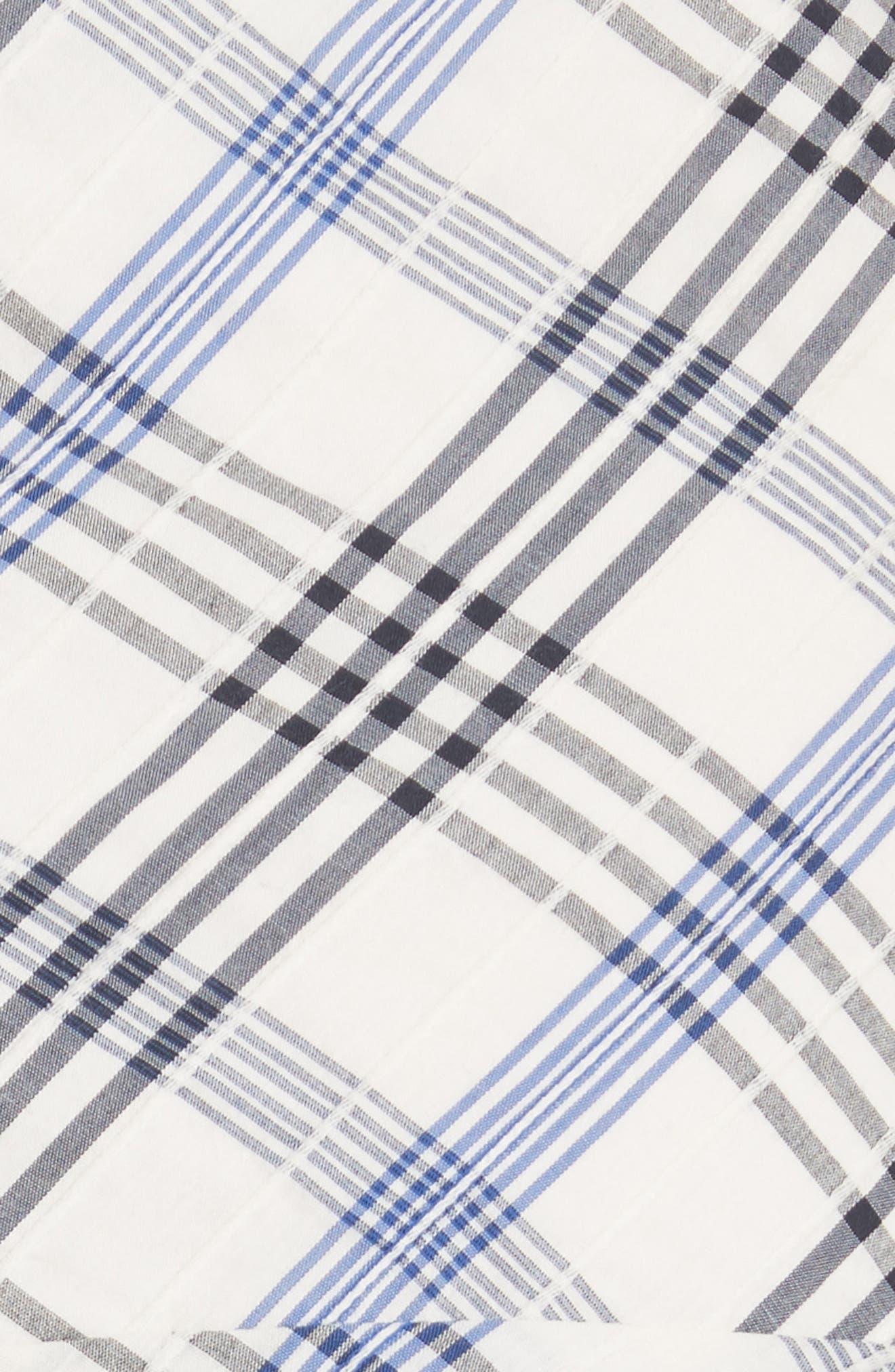 Kaia Check Ruffle Skirt,                             Alternate thumbnail 5, color,                             Blue