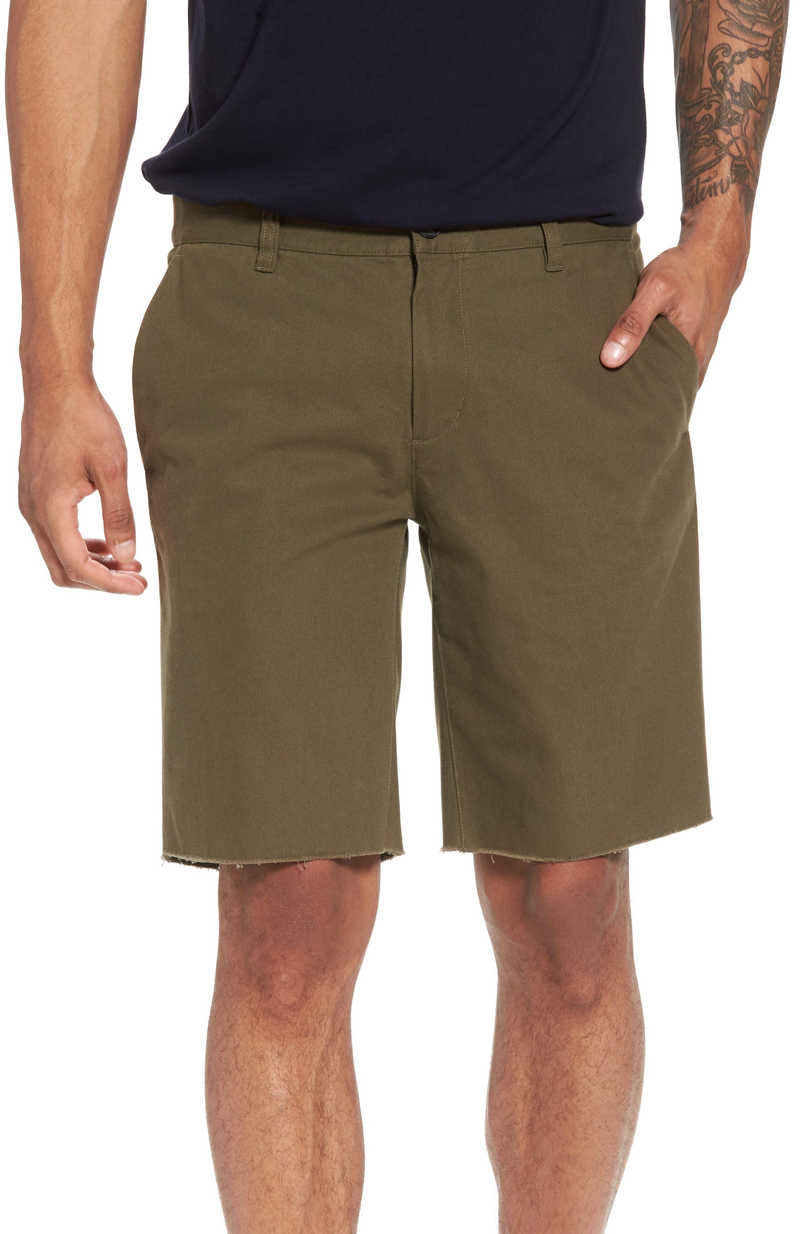 Slim Fit Chino Shorts,                             Main thumbnail 1, color,                             Camp Green