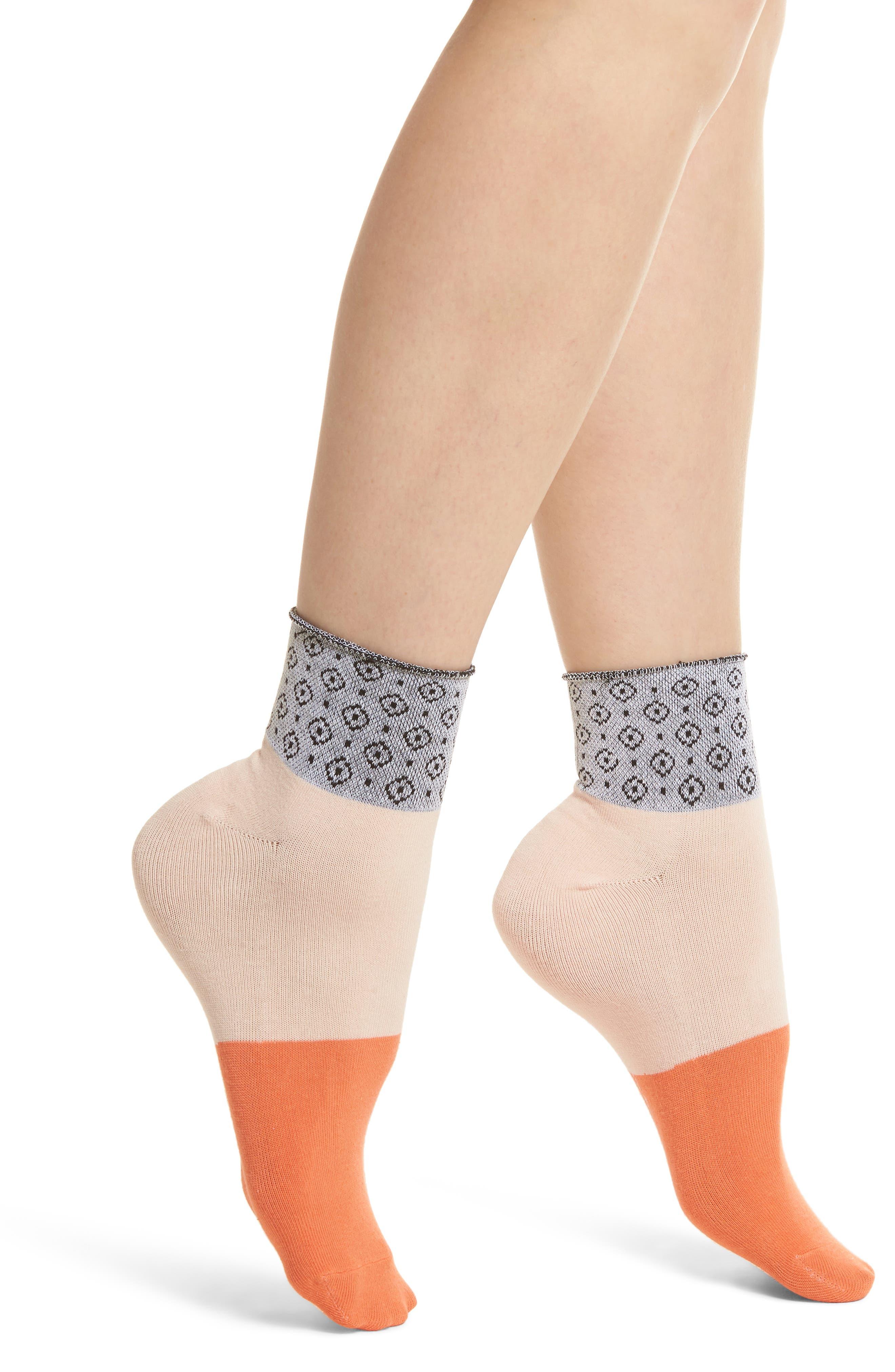 Celina Ankle Socks,                         Main,                         color, Pink