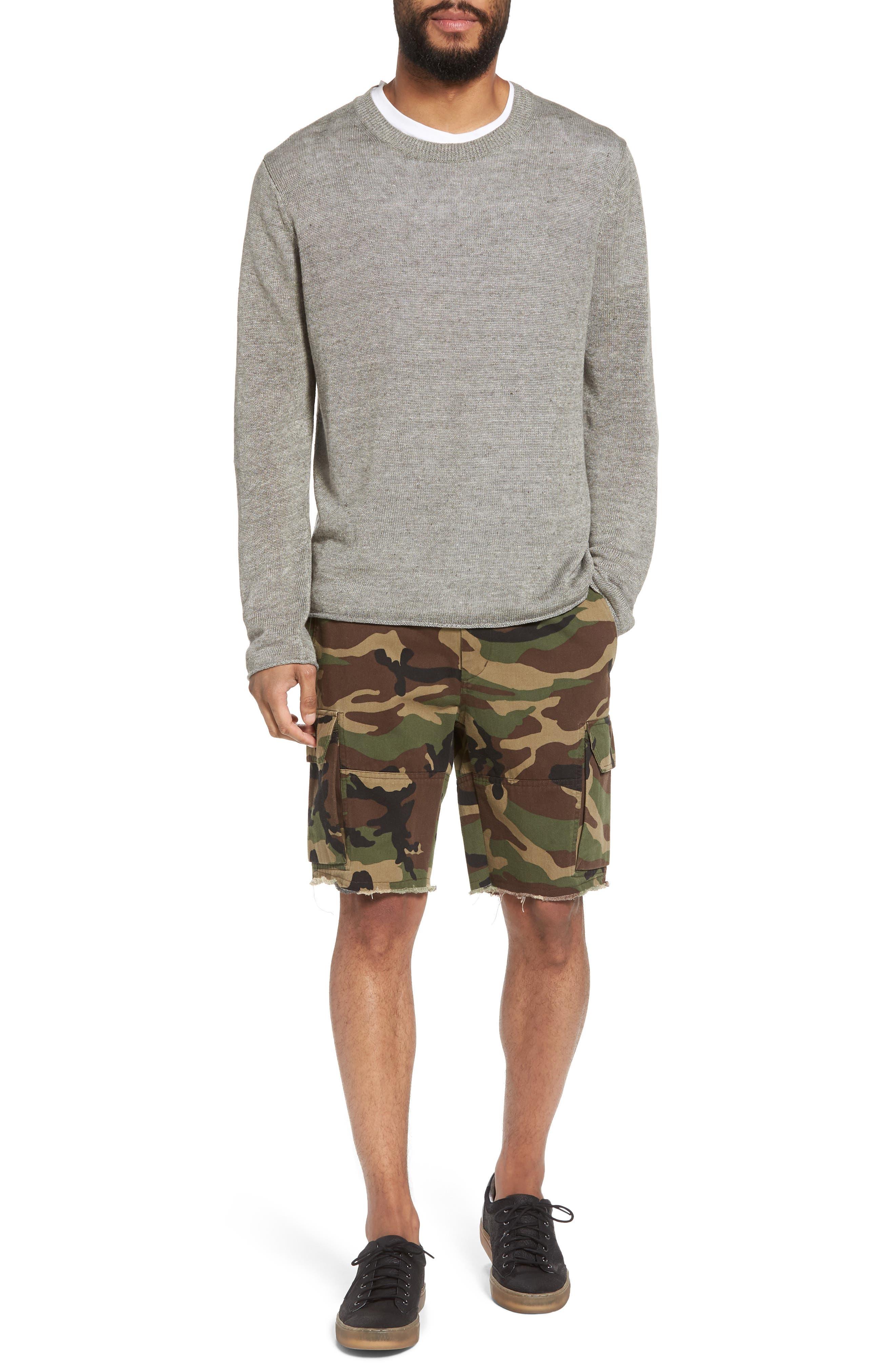 Alternate Image 7  - Vince Slim Fit Linen Crewneck Sweater