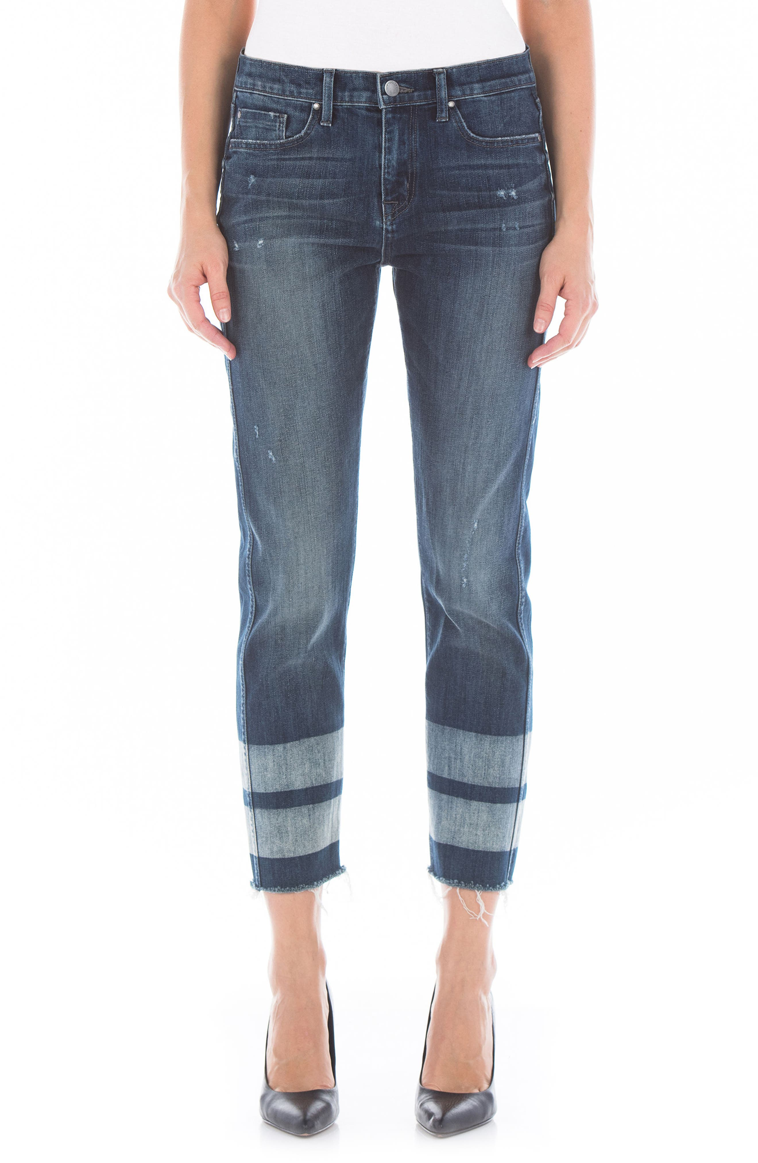 Alternate Image 1 Selected - Fidelity Denim Stevie Crop Straight Leg Jeans (Cascade)