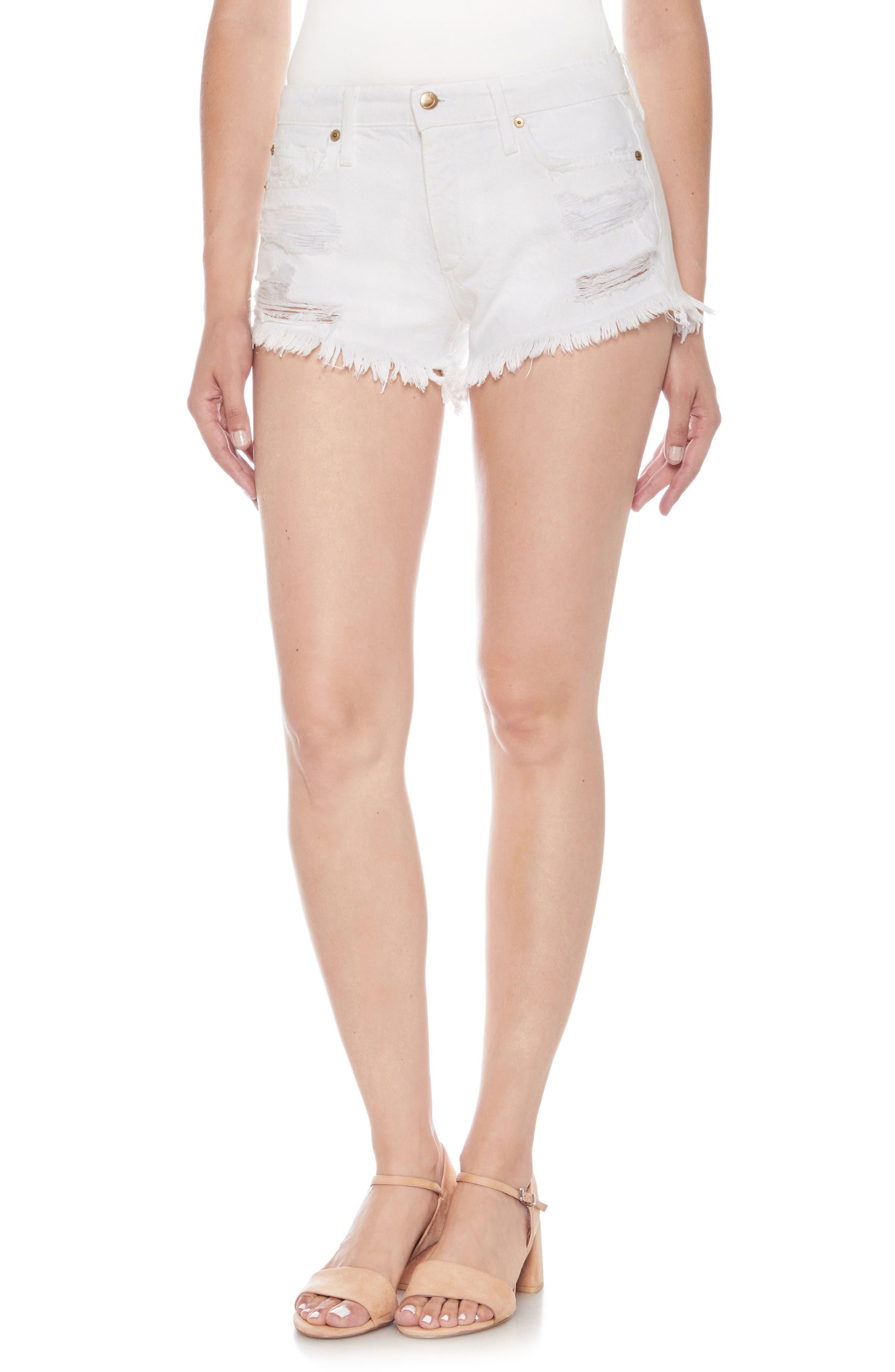 Cutoff Denim Shorts,                         Main,                         color, Cordelia
