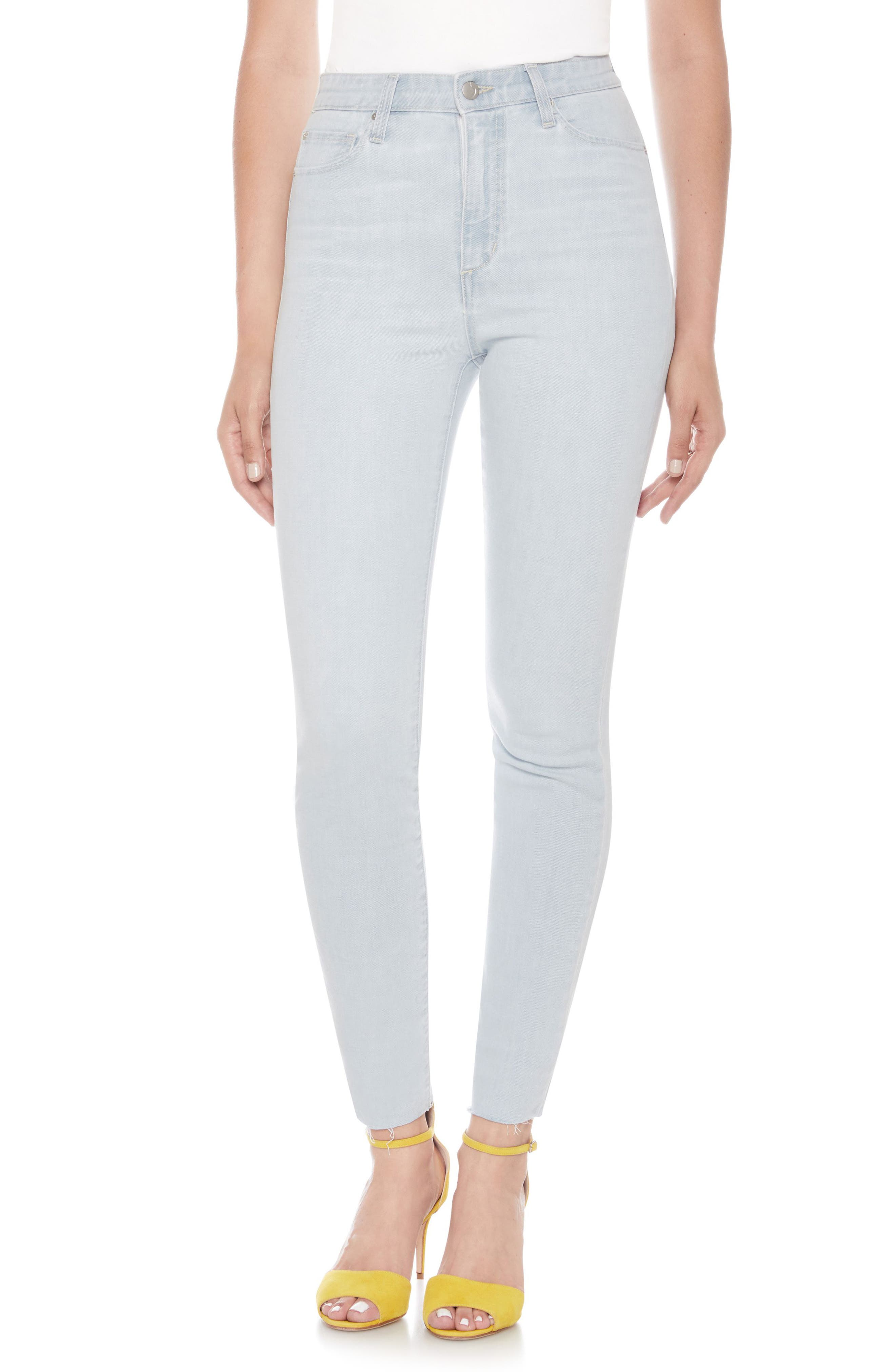 The Bella Super High Waist Ankle Skinny Jeans,                             Main thumbnail 1, color,                             Wylla
