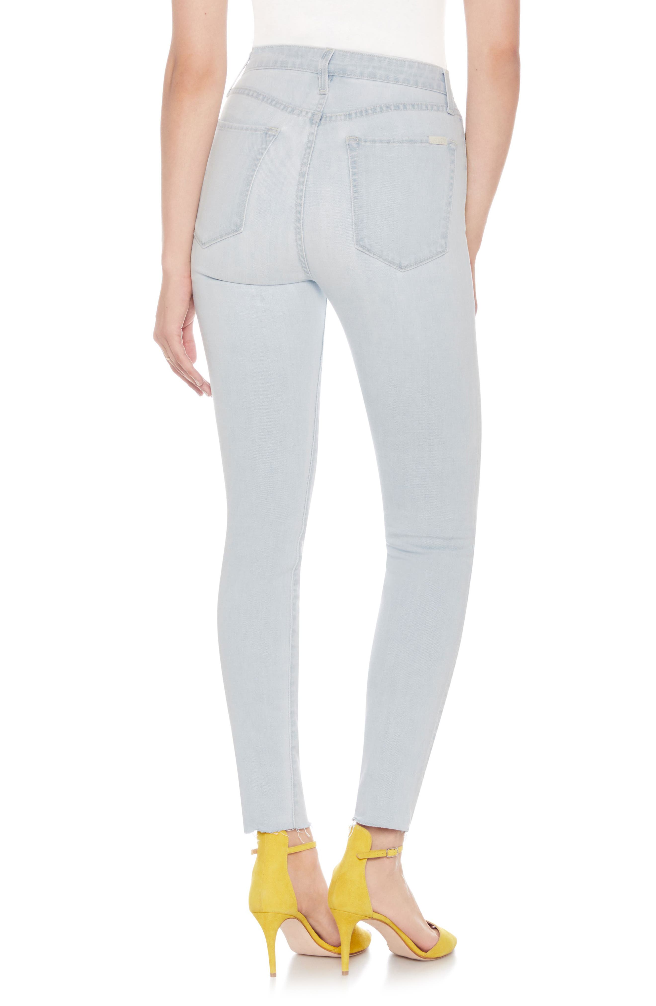 The Bella Super High Waist Ankle Skinny Jeans,                             Alternate thumbnail 2, color,                             Wylla