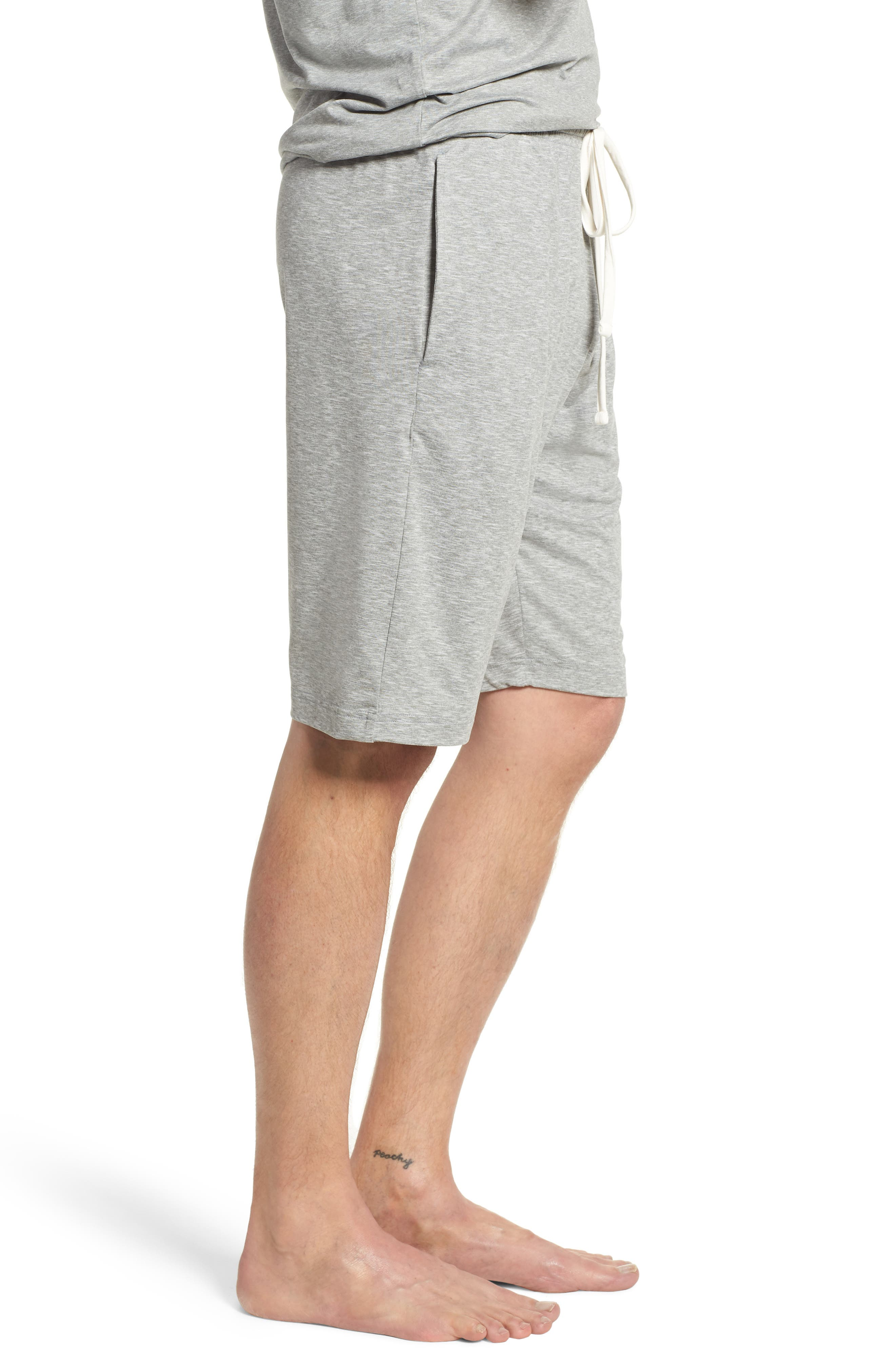 Therma Lounge Shorts,                             Alternate thumbnail 3, color,                             Andover Heather/ Nevis