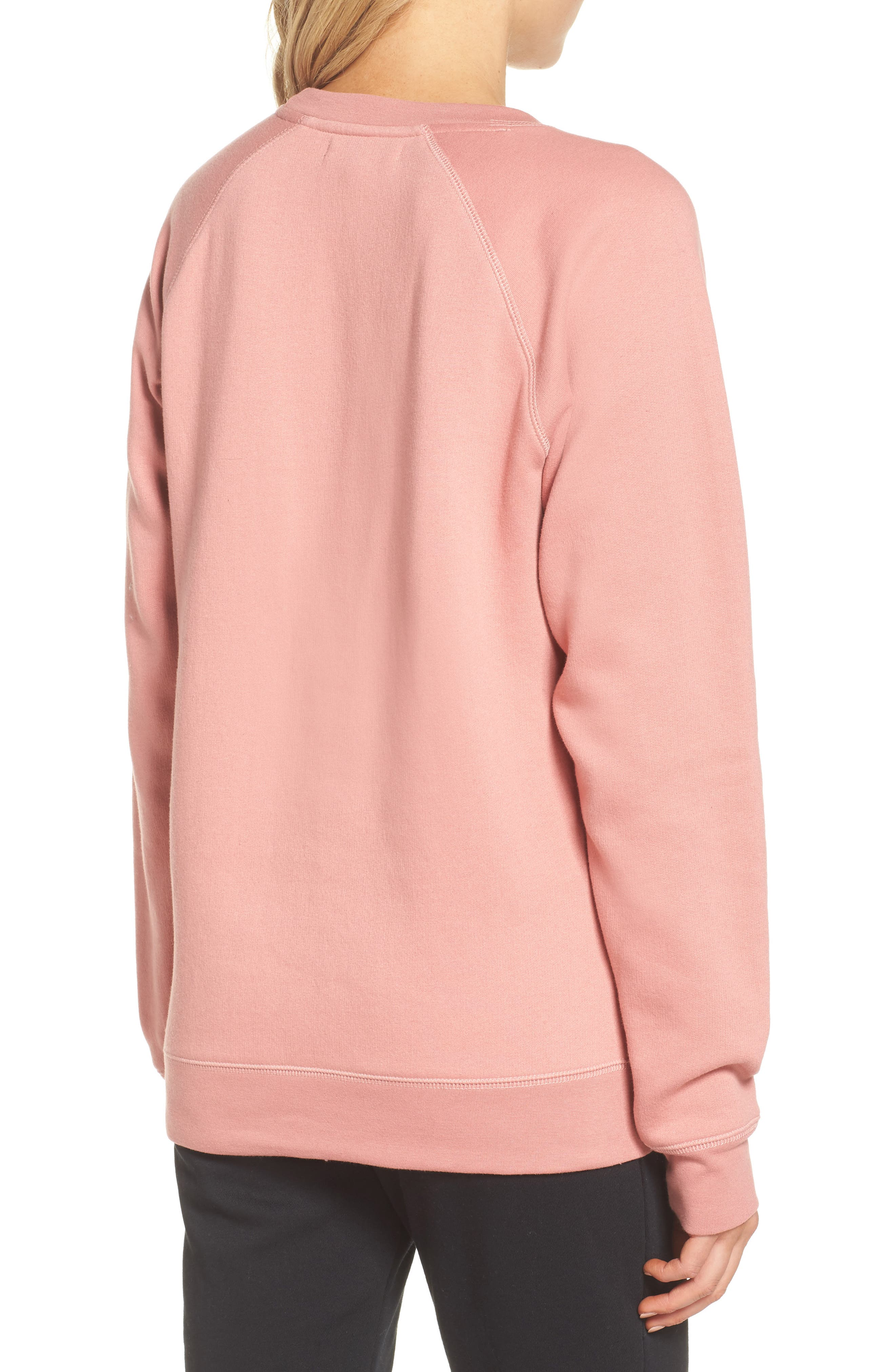 Blonde Crewneck Sweatshirt,                             Alternate thumbnail 2, color,                             Dusty Rose