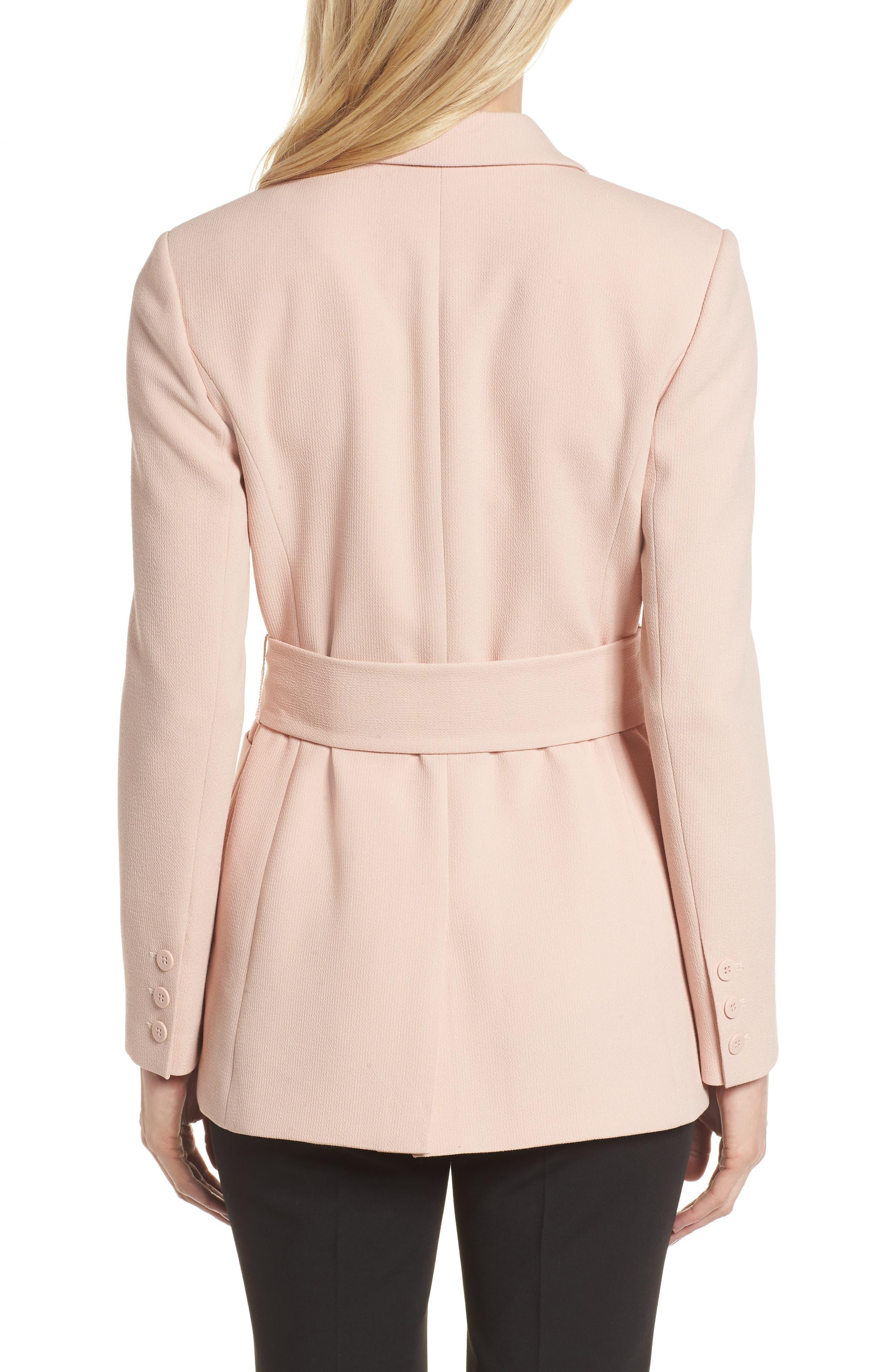 Tie Waist Suit Jacket,                             Alternate thumbnail 2, color,                             Pink Smoke