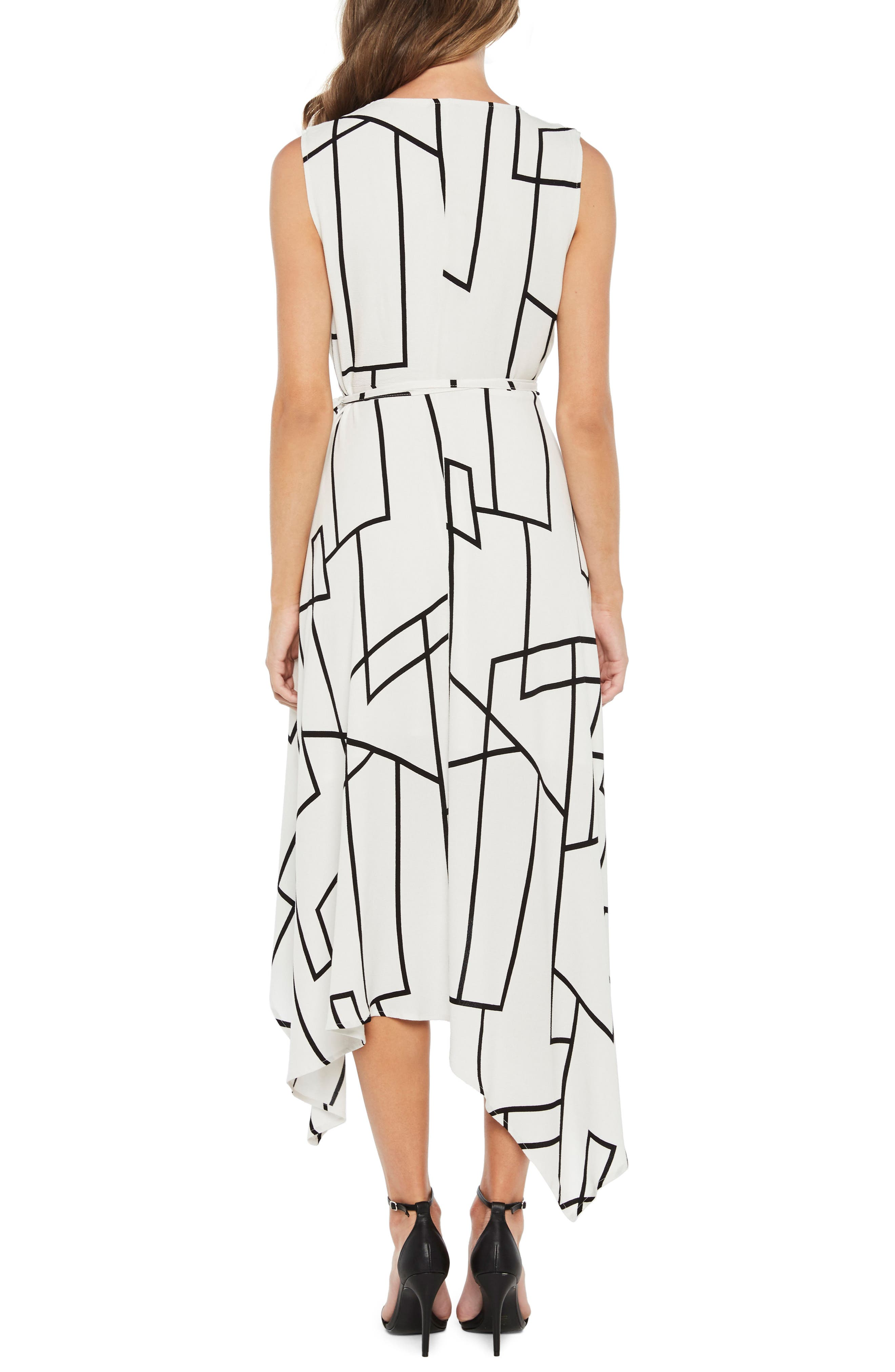 Asymmetrical Wrap Dress,                             Alternate thumbnail 2, color,                             Multi