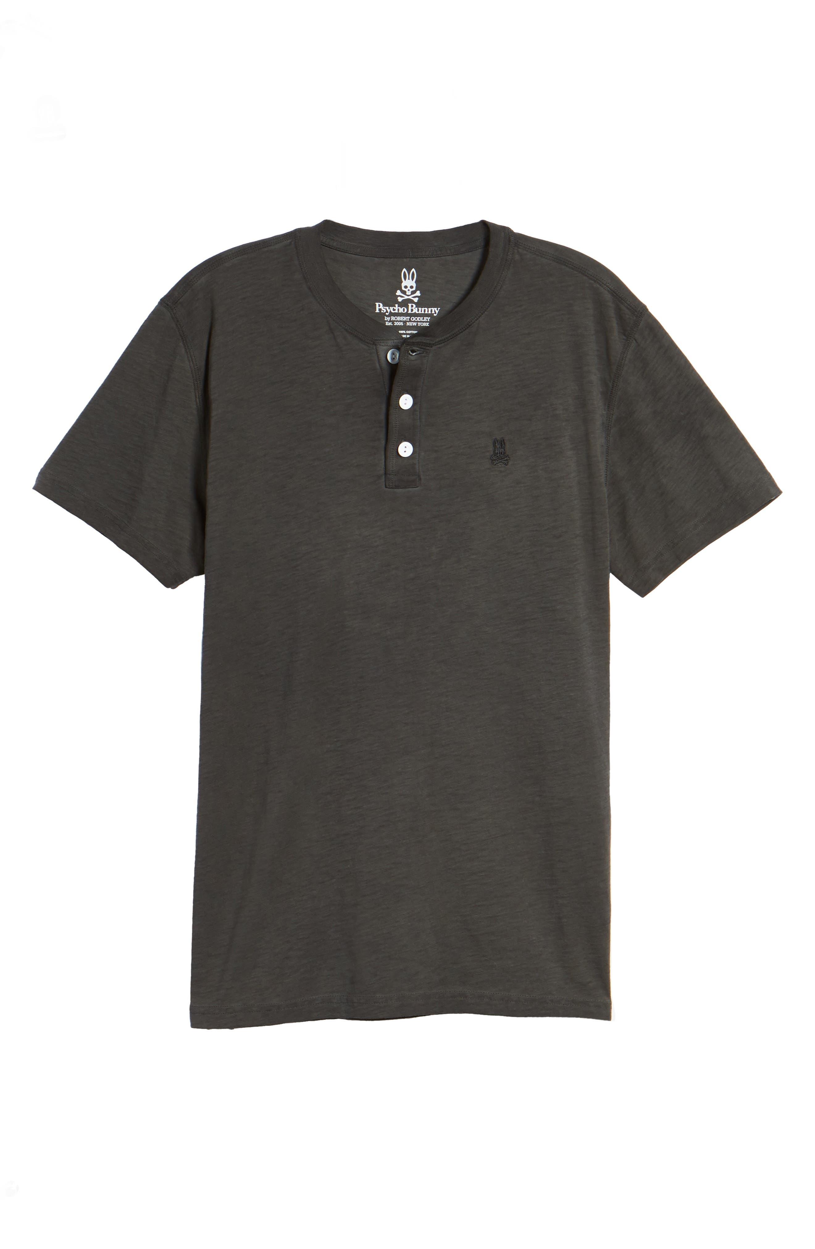 Sunwash Henley T-Shirt,                             Alternate thumbnail 6, color,                             Black
