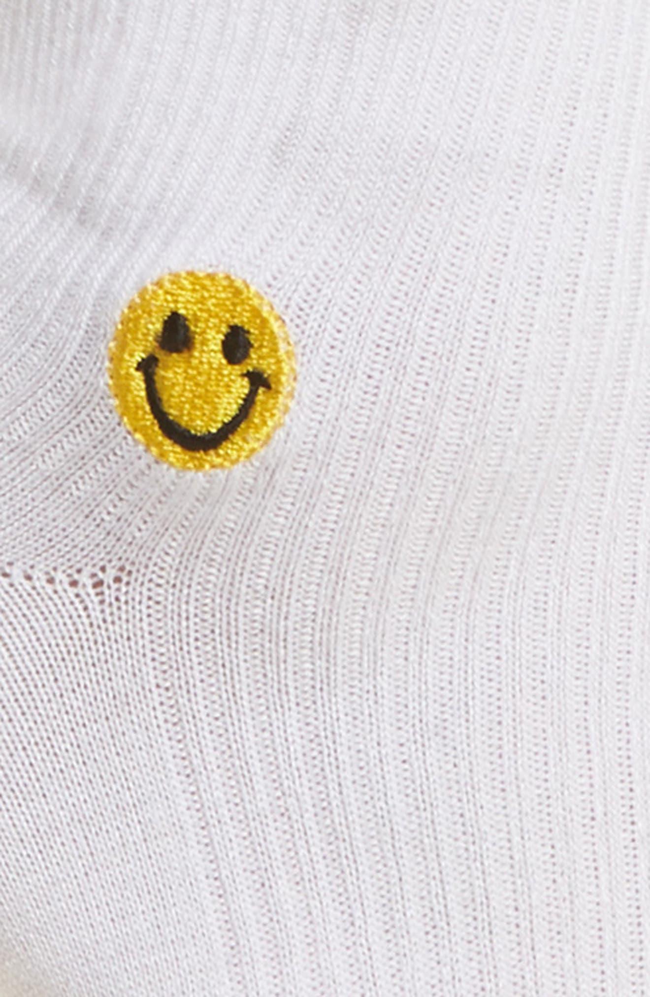 Smiles Ankle Socks,                             Alternate thumbnail 3, color,                             White