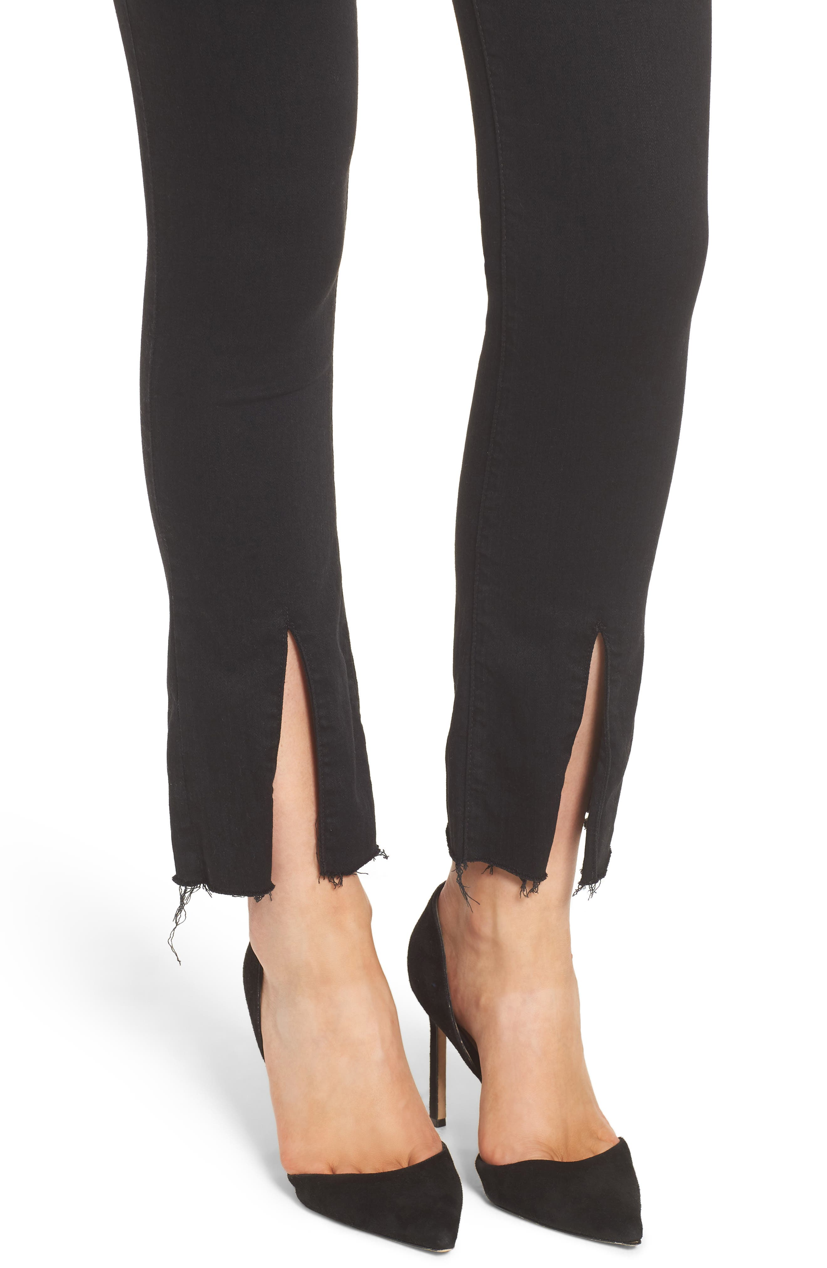 The Insider High Waist Slit Ankle Bootcut Jeans,                             Alternate thumbnail 4, color,                             Not Guilty