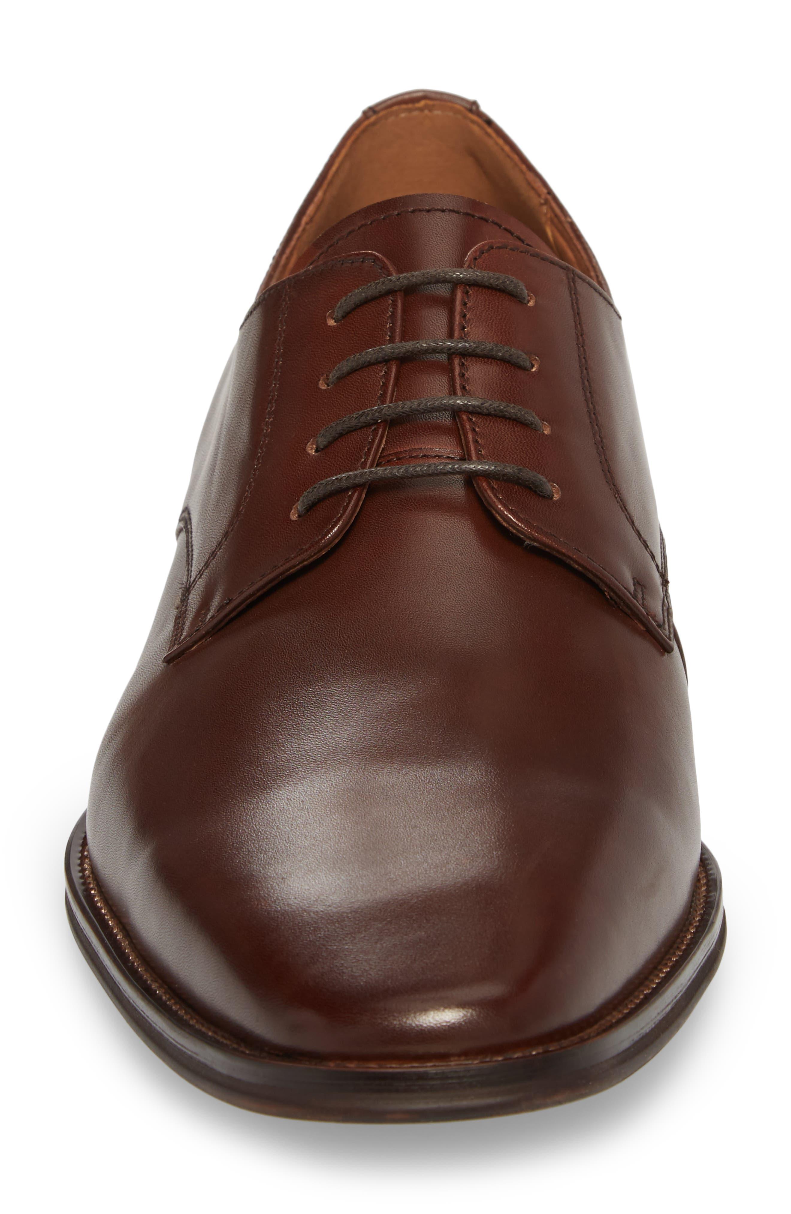 Phoenix Plain Toe Derby,                             Alternate thumbnail 4, color,                             Tan Leather