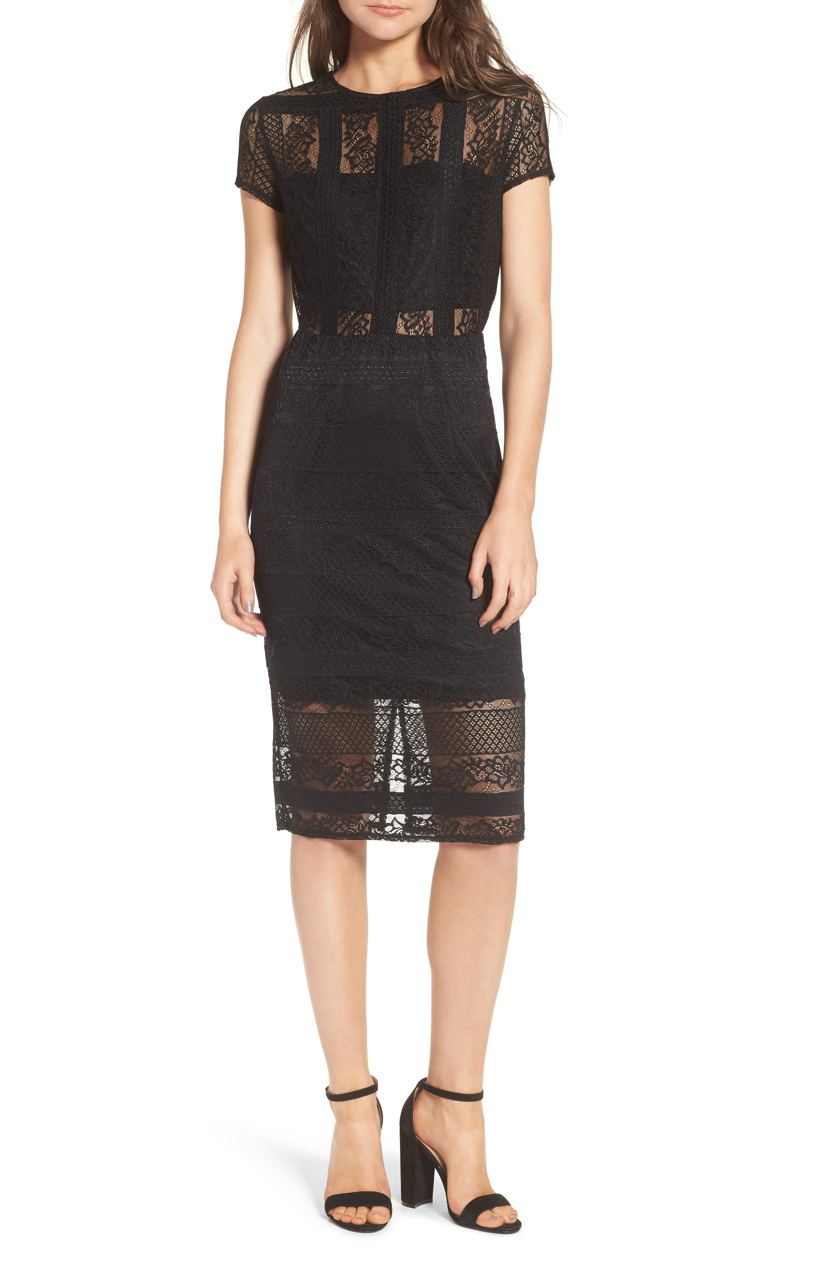 LOST INK Lace Body-Con Dress