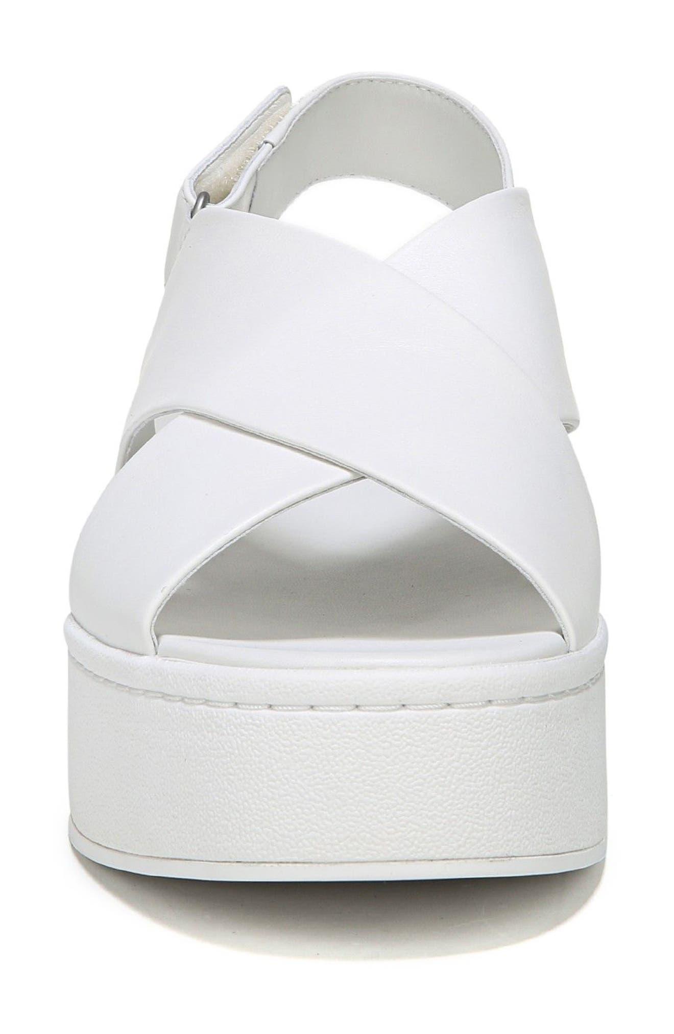 Weslan Cross Strap Slingback Sandal,                             Alternate thumbnail 4, color,                             Horchata