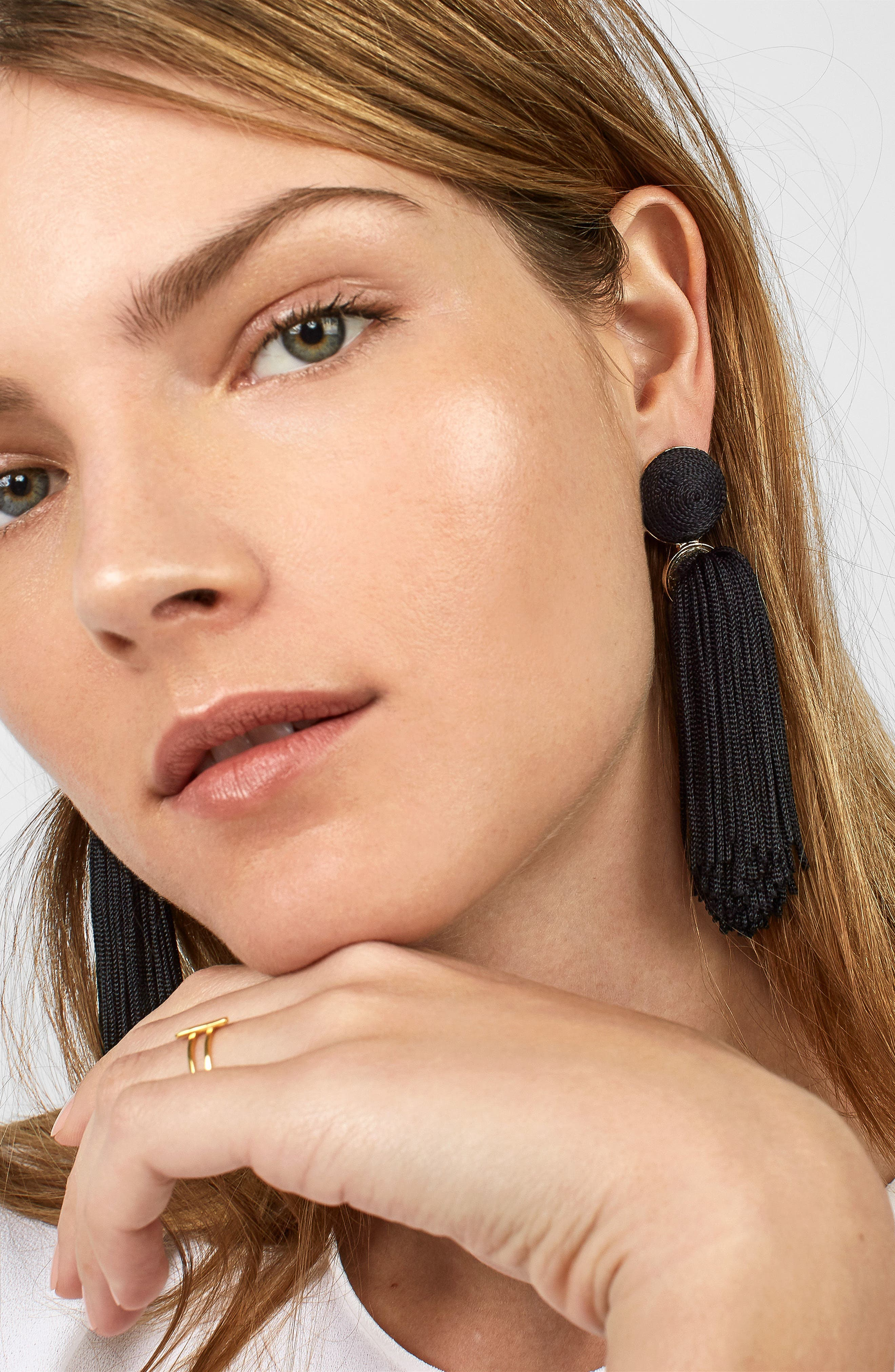 Sonatina Tassel Earrings,                             Alternate thumbnail 2, color,                             Black