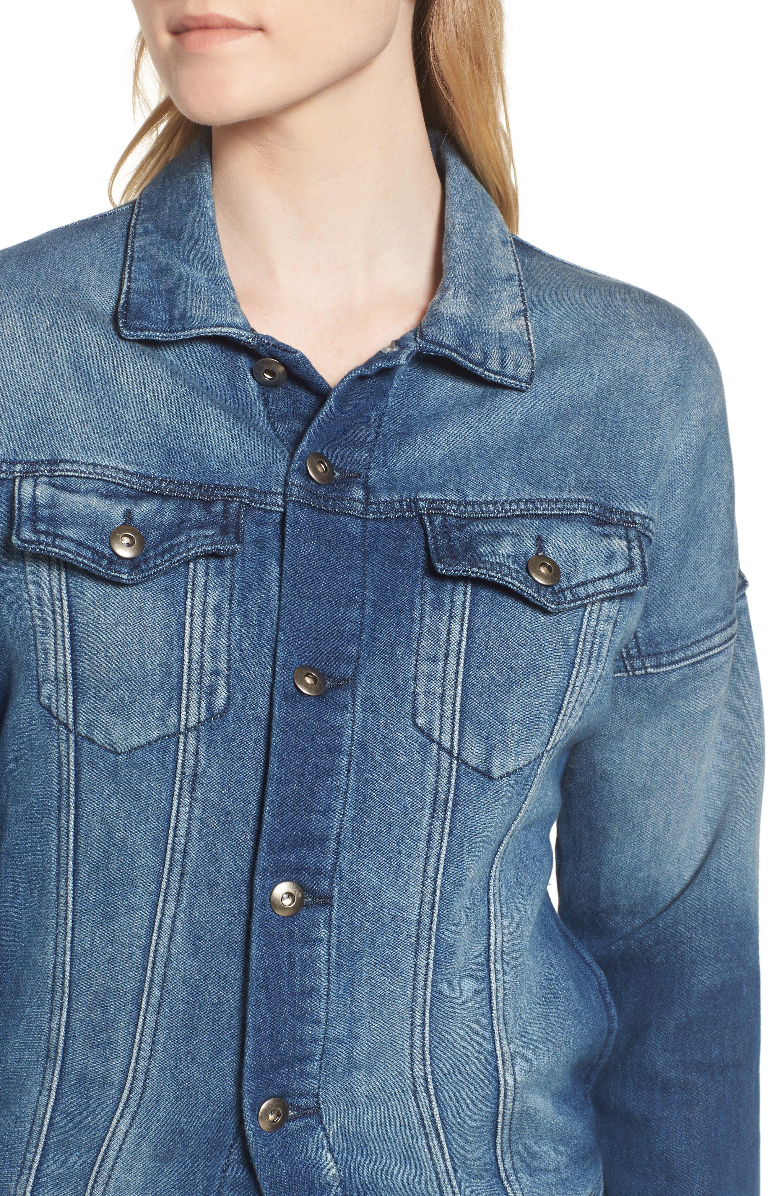 Denim Jacket,                             Alternate thumbnail 4, color,                             Washed Blue