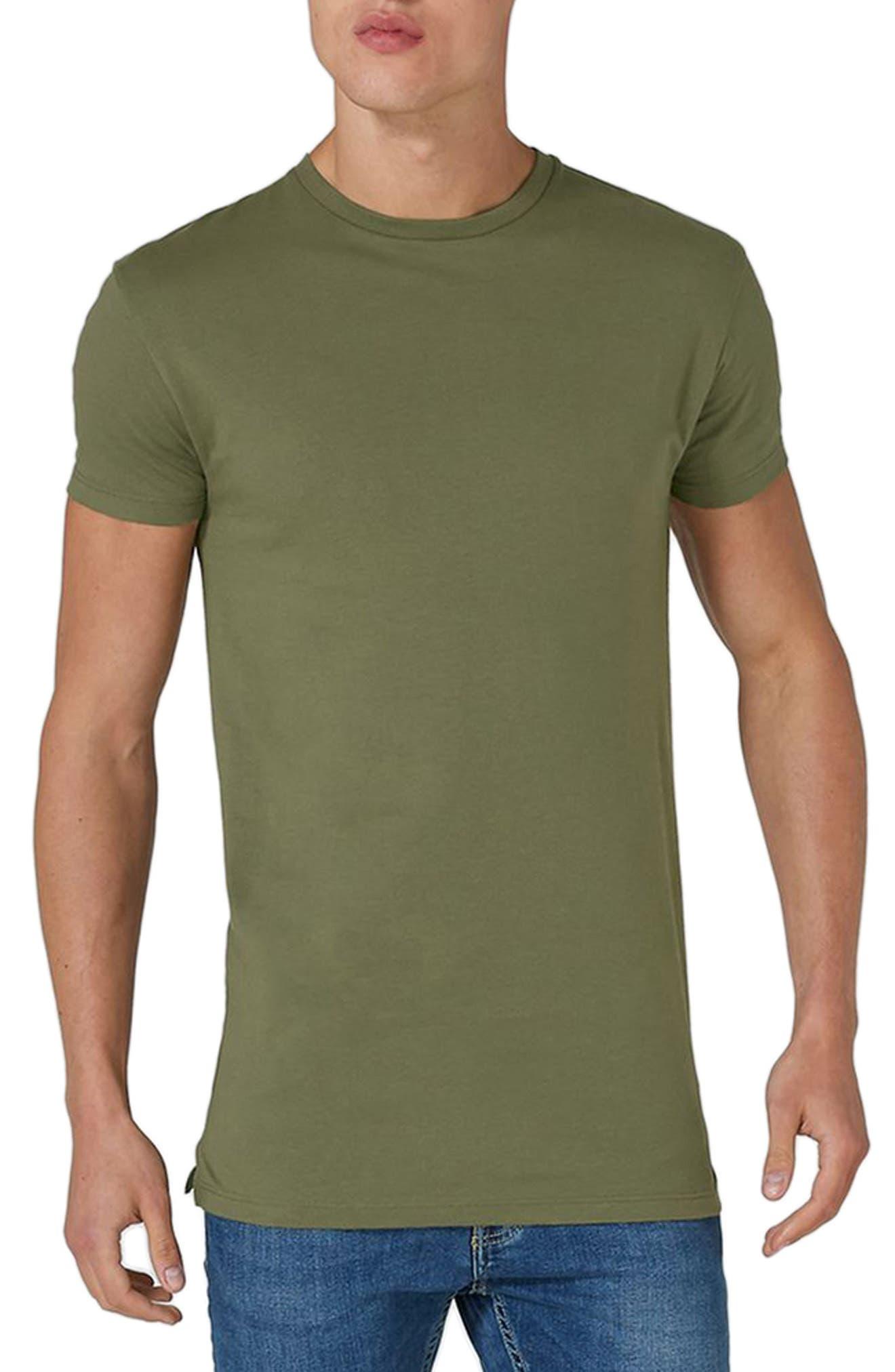 Longline T-Shirt,                             Main thumbnail 1, color,                             Olive