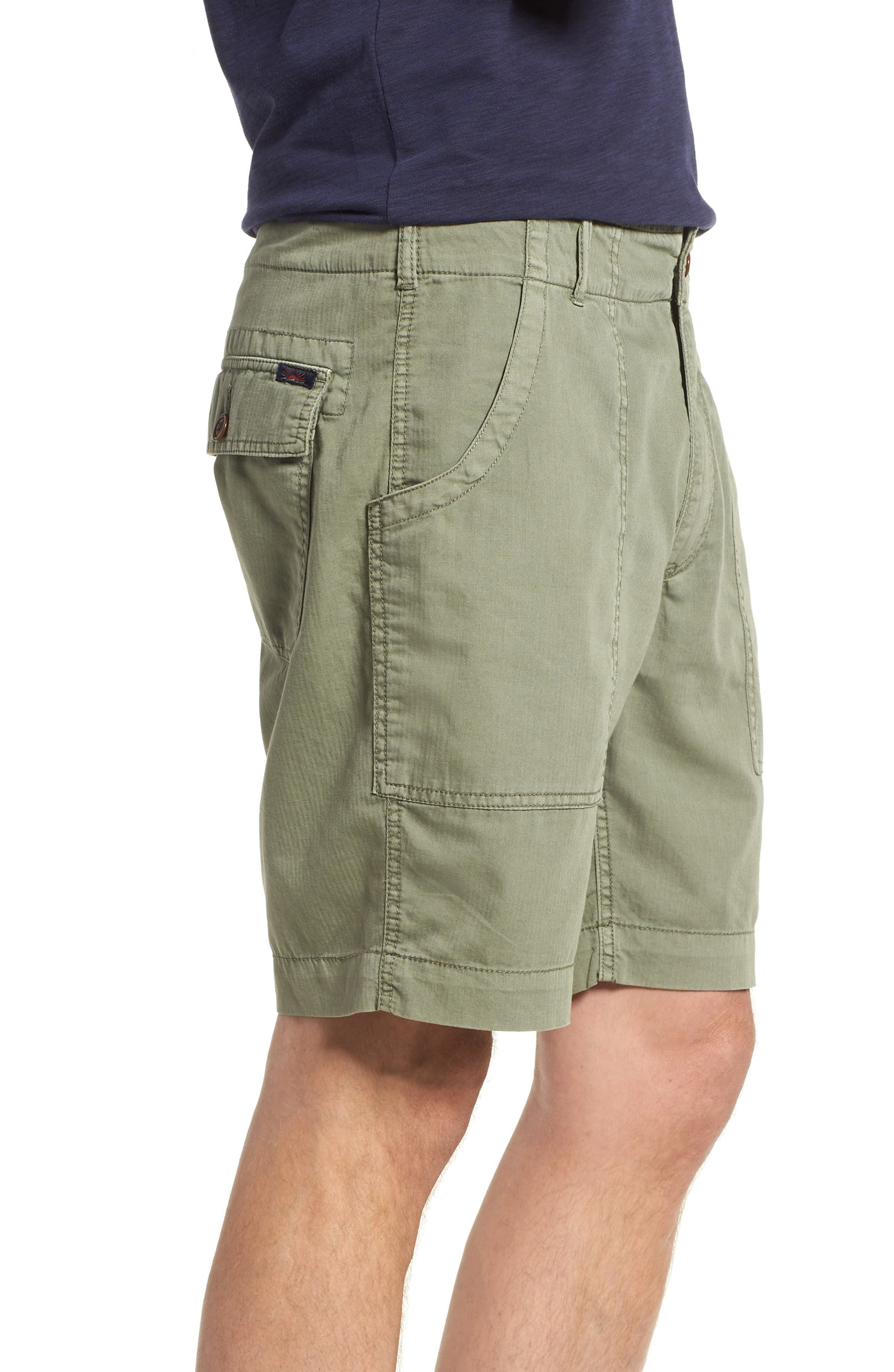 Radar Camp Shorts,                             Alternate thumbnail 3, color,                             Olive