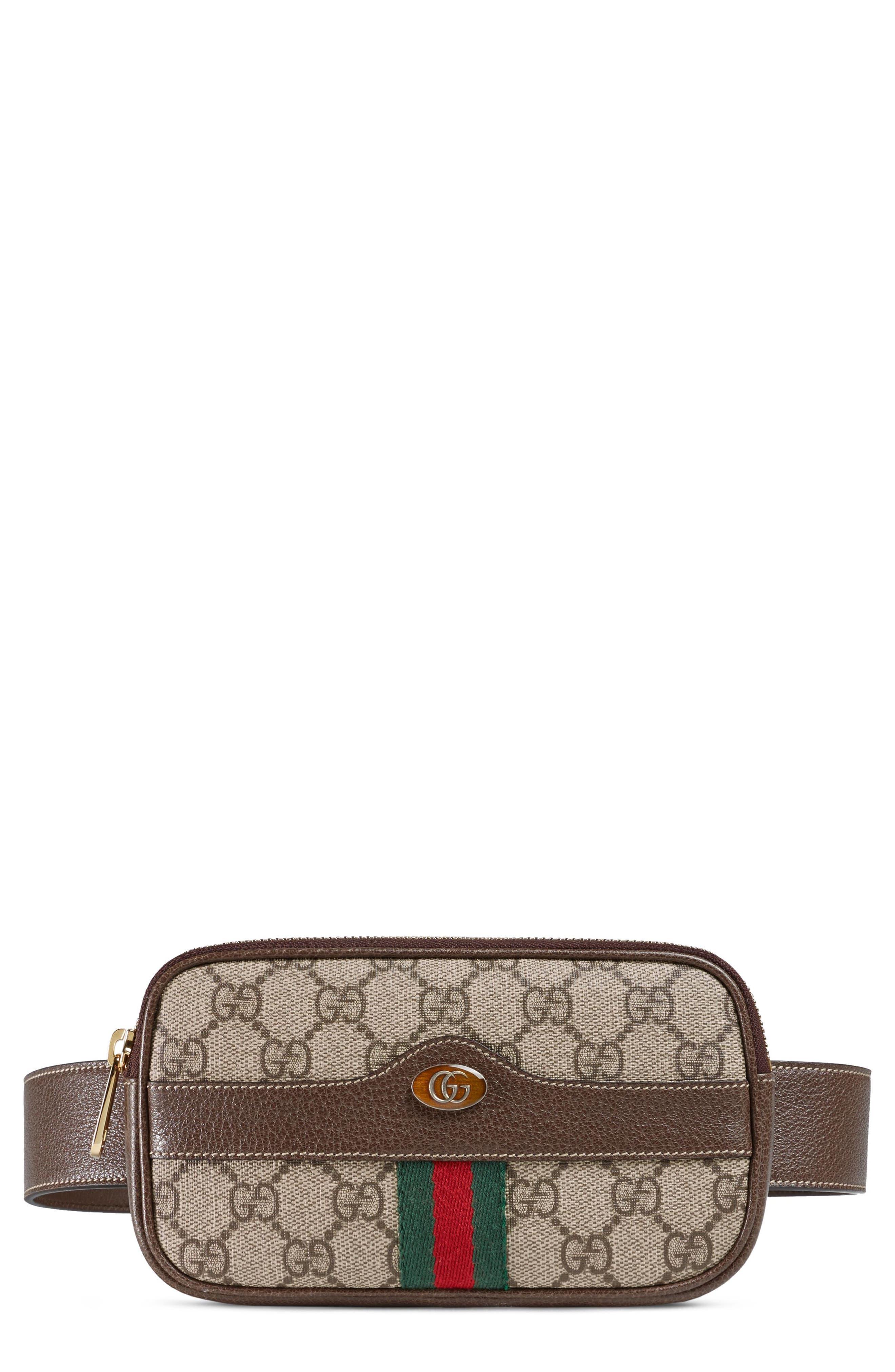 Gucci Ophidia GG Supreme Small Canvas Belt Bag