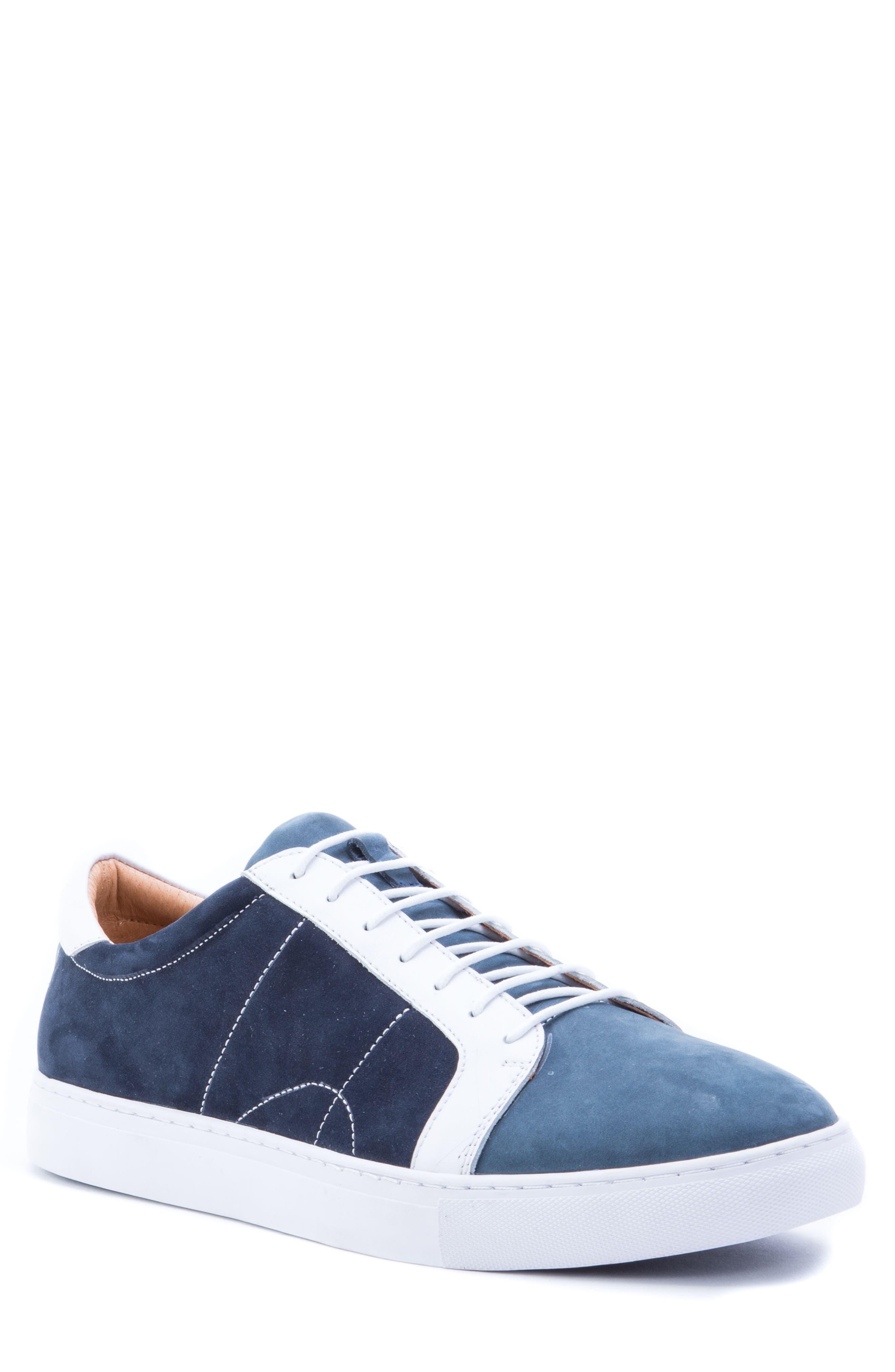 Gonzalo Low Top Sneaker,                         Main,                         color, Navy Suede