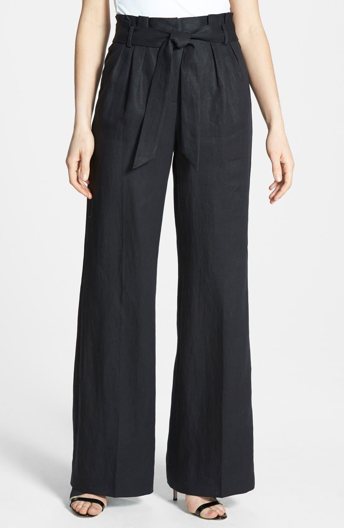 Classiques Entier® Paper Bag Linen Pants