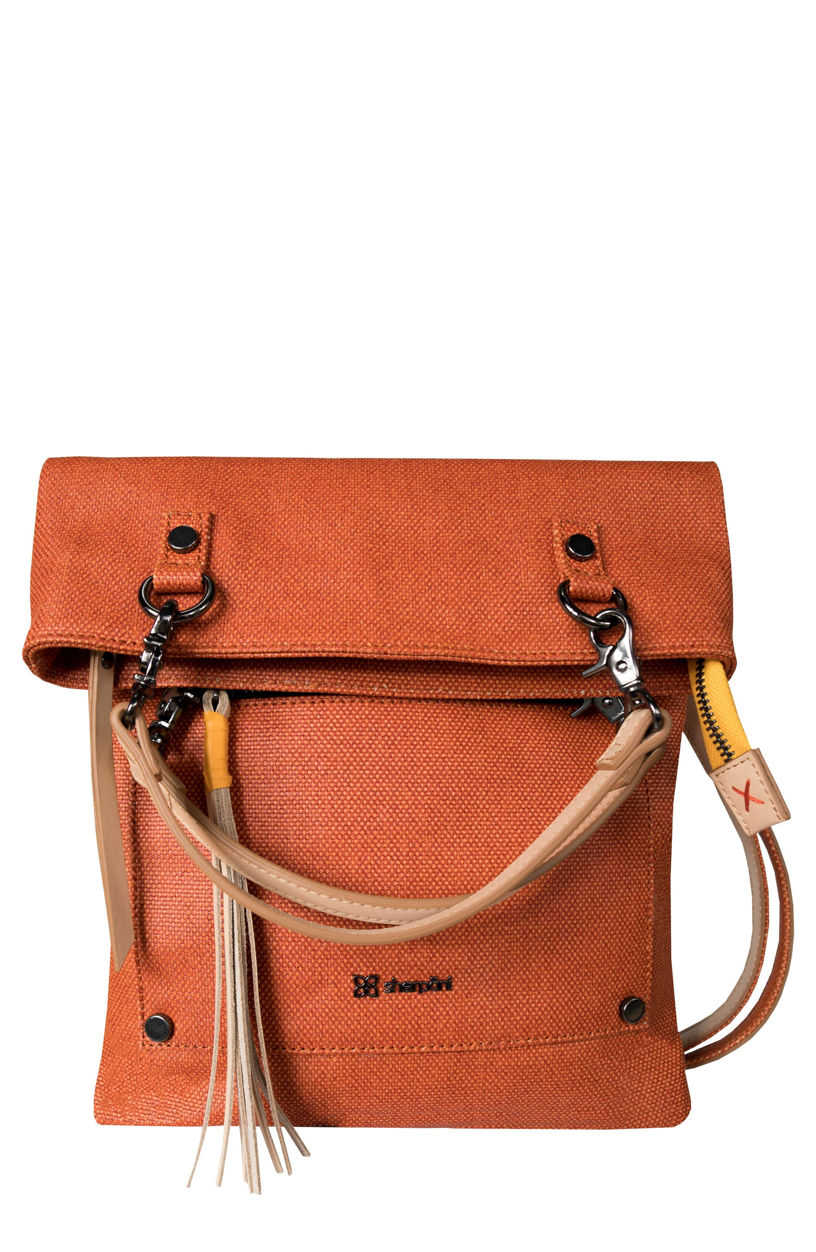Rebel Coated Canvas Crossbody Bag,                             Main thumbnail 1, color,                             Copper