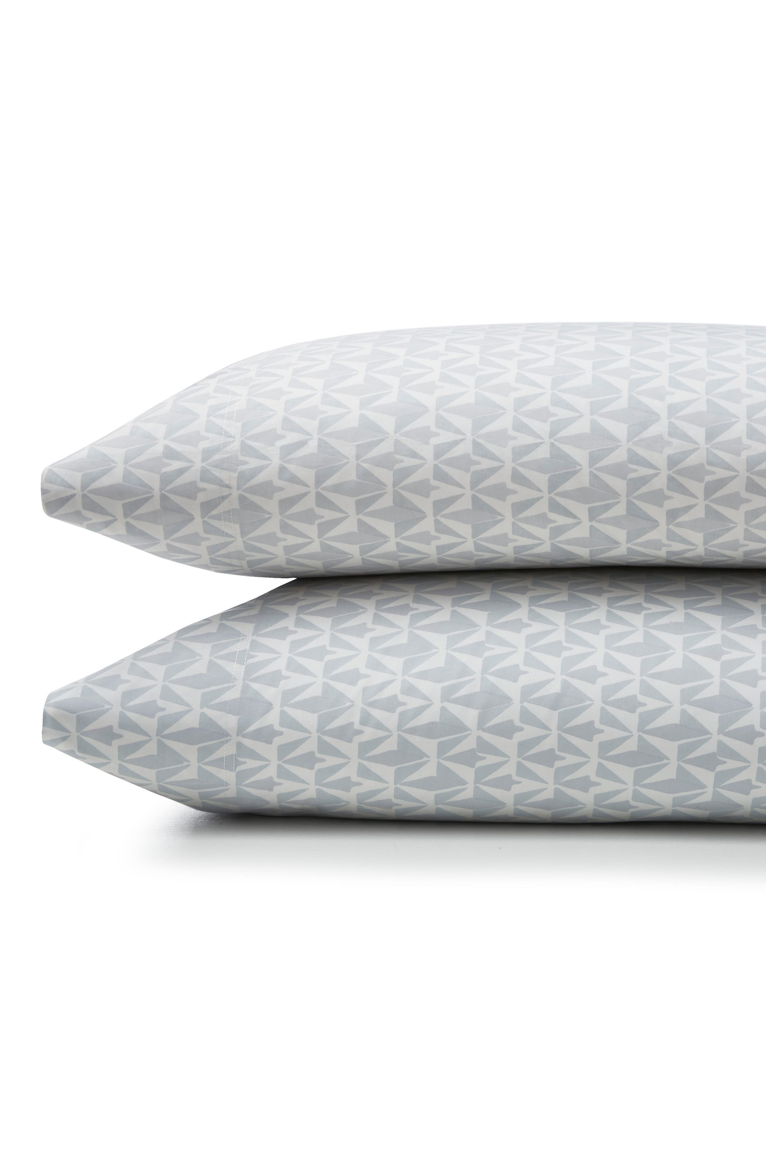 Grasslands 300 Thread Count Pair of Pillowcases,                             Main thumbnail 1, color,                             Nibus/ Light/ Pastel Grey