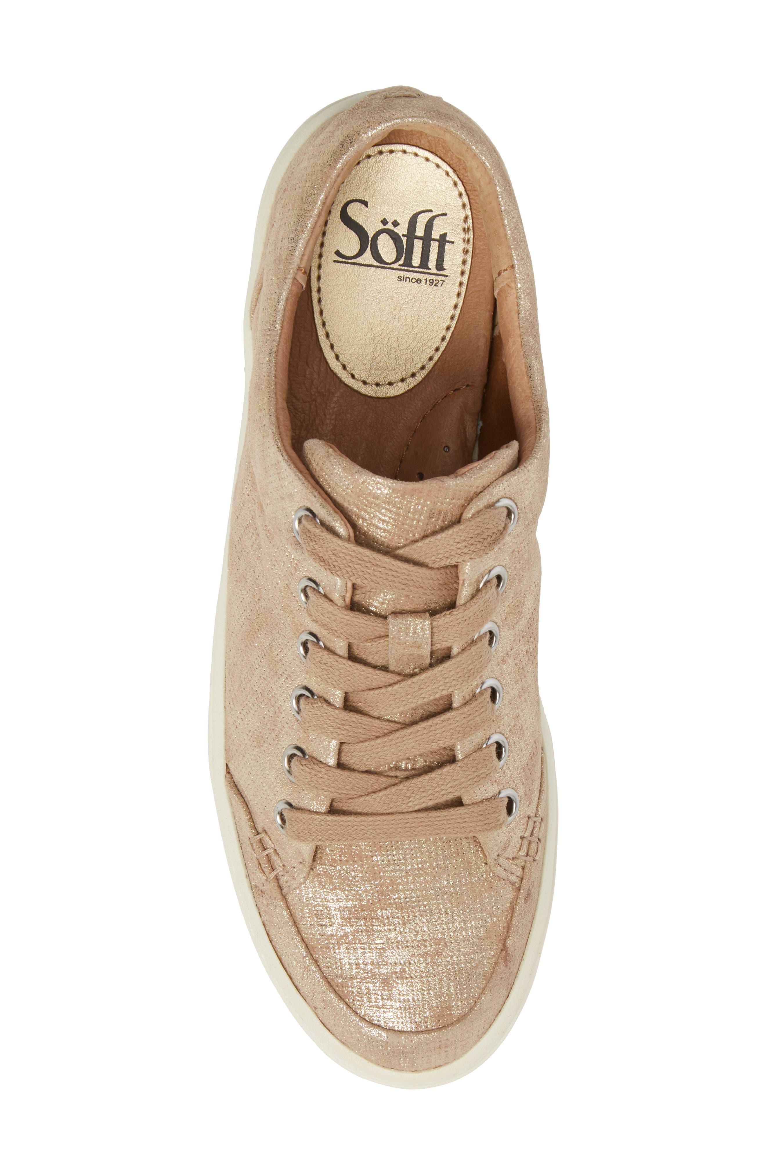 Sanders Sneaker,                             Alternate thumbnail 5, color,                             Platino Distressed Suede