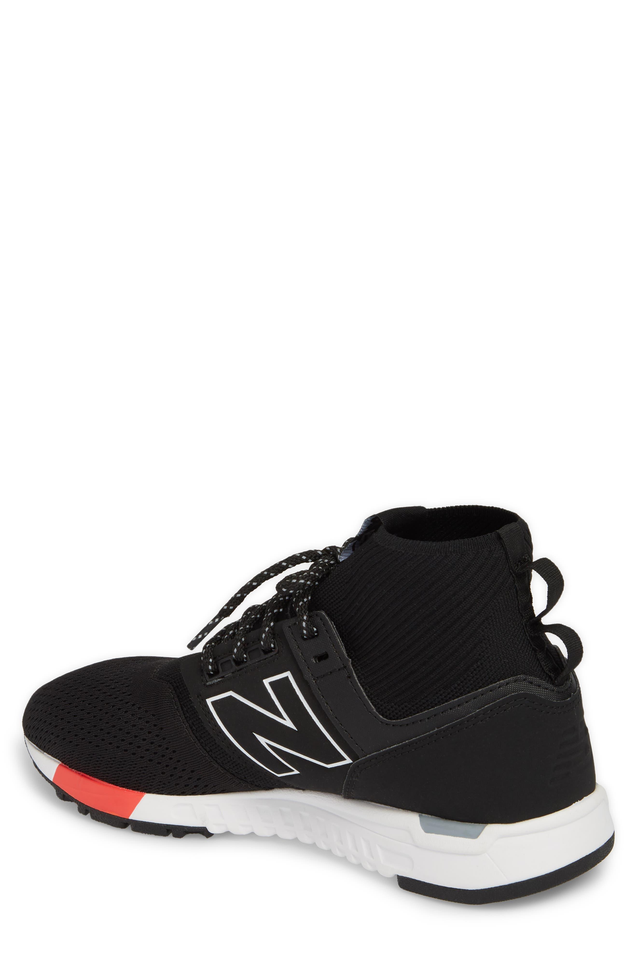247 Mid Sneaker,                             Alternate thumbnail 2, color,                             Black