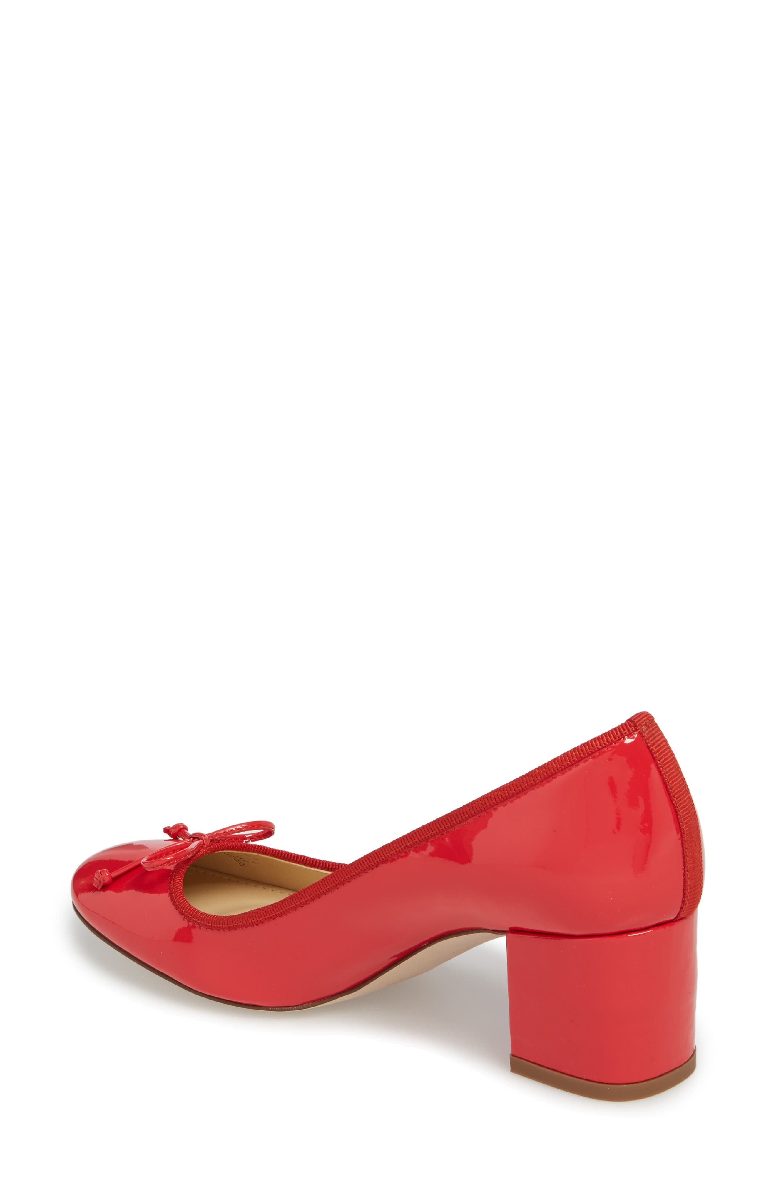 Leonard Pump,                             Alternate thumbnail 2, color,                             Red Leather