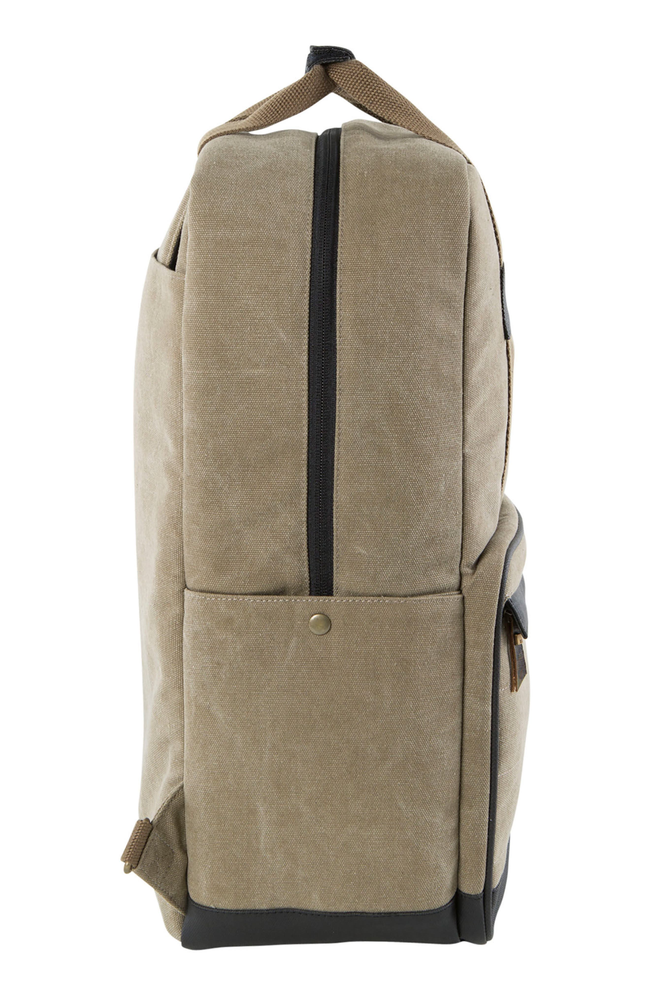 Supply Convertible Water Resistant Backpack,                             Alternate thumbnail 4, color,                             Khaki