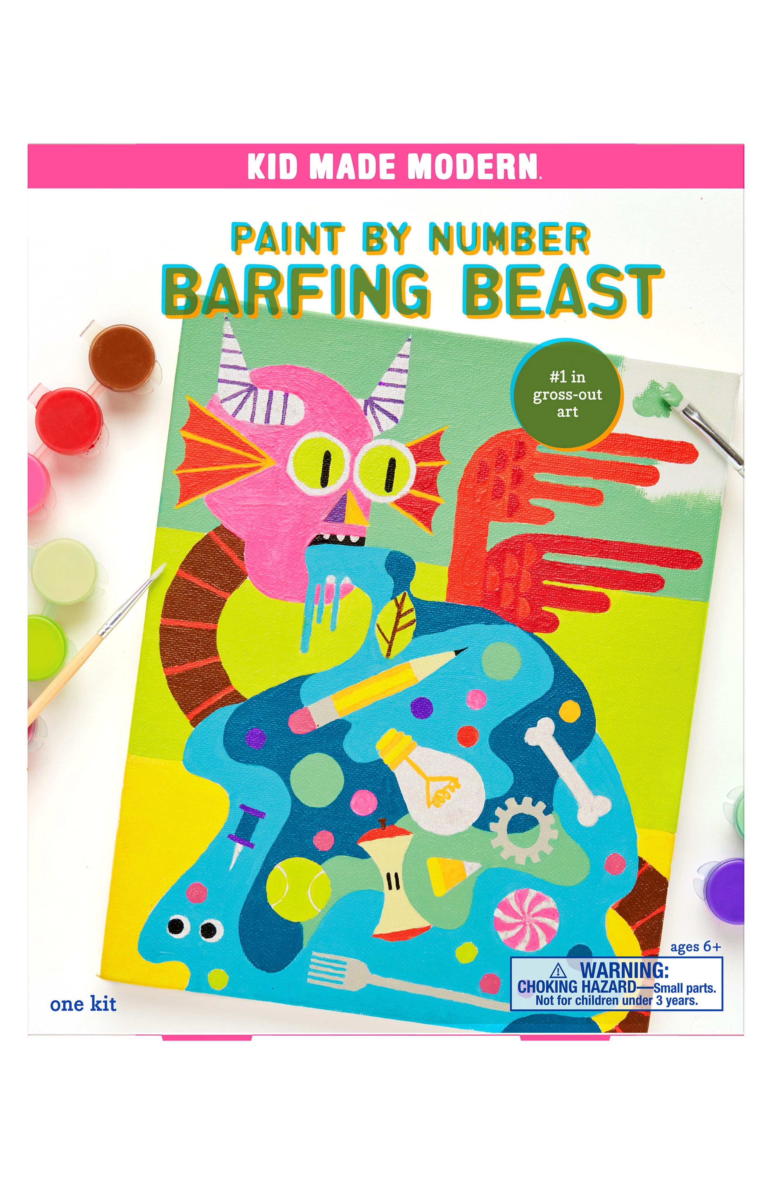 Barfing Beast Paint by Number Kit,                         Main,                         color, Green
